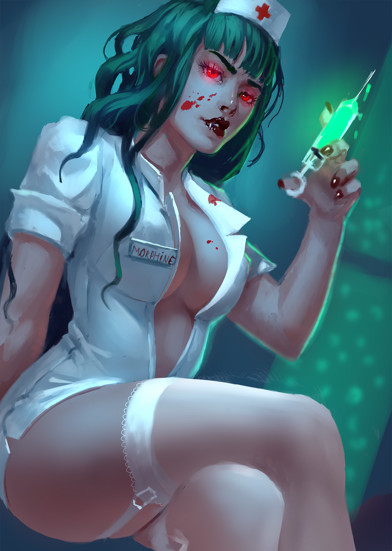 New Mistress Morphine Pin Up, Plus PLEASE VOTE for us in Halloween Competition (See Description)