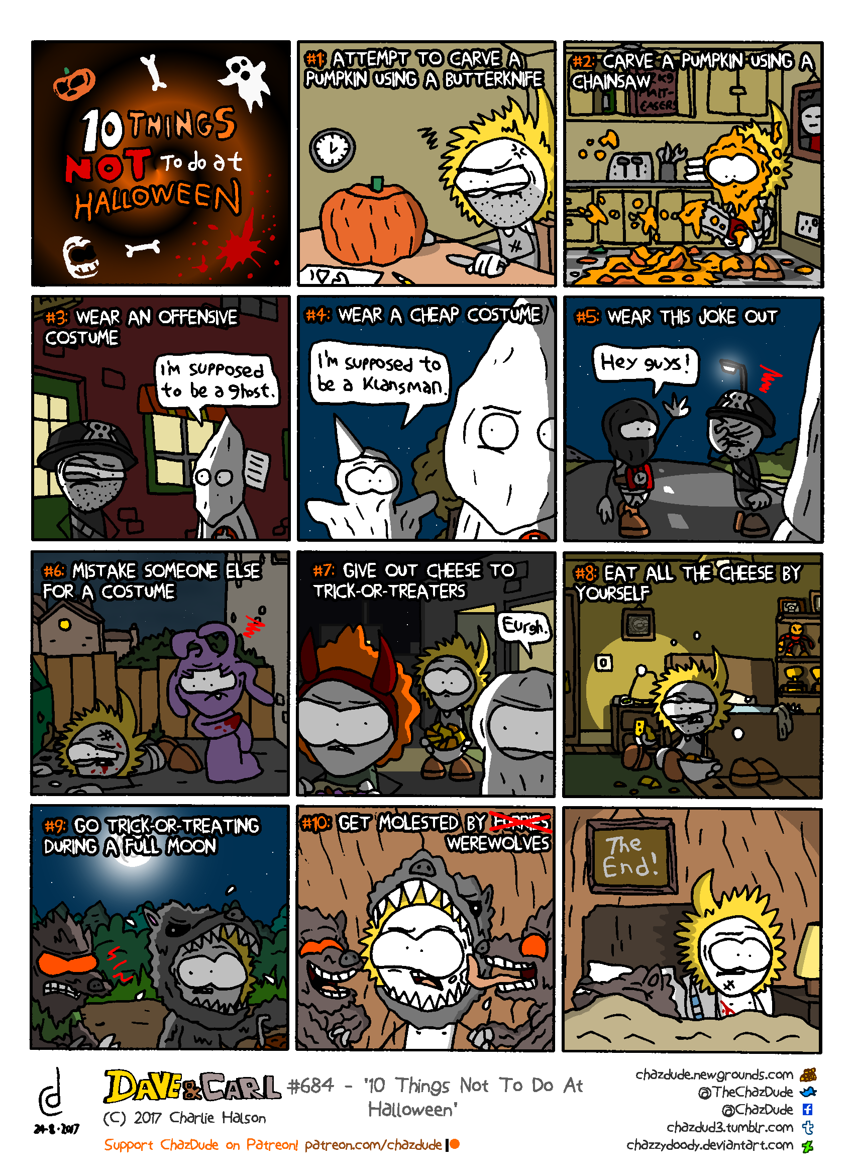 10 Things Not To Do At Halloween