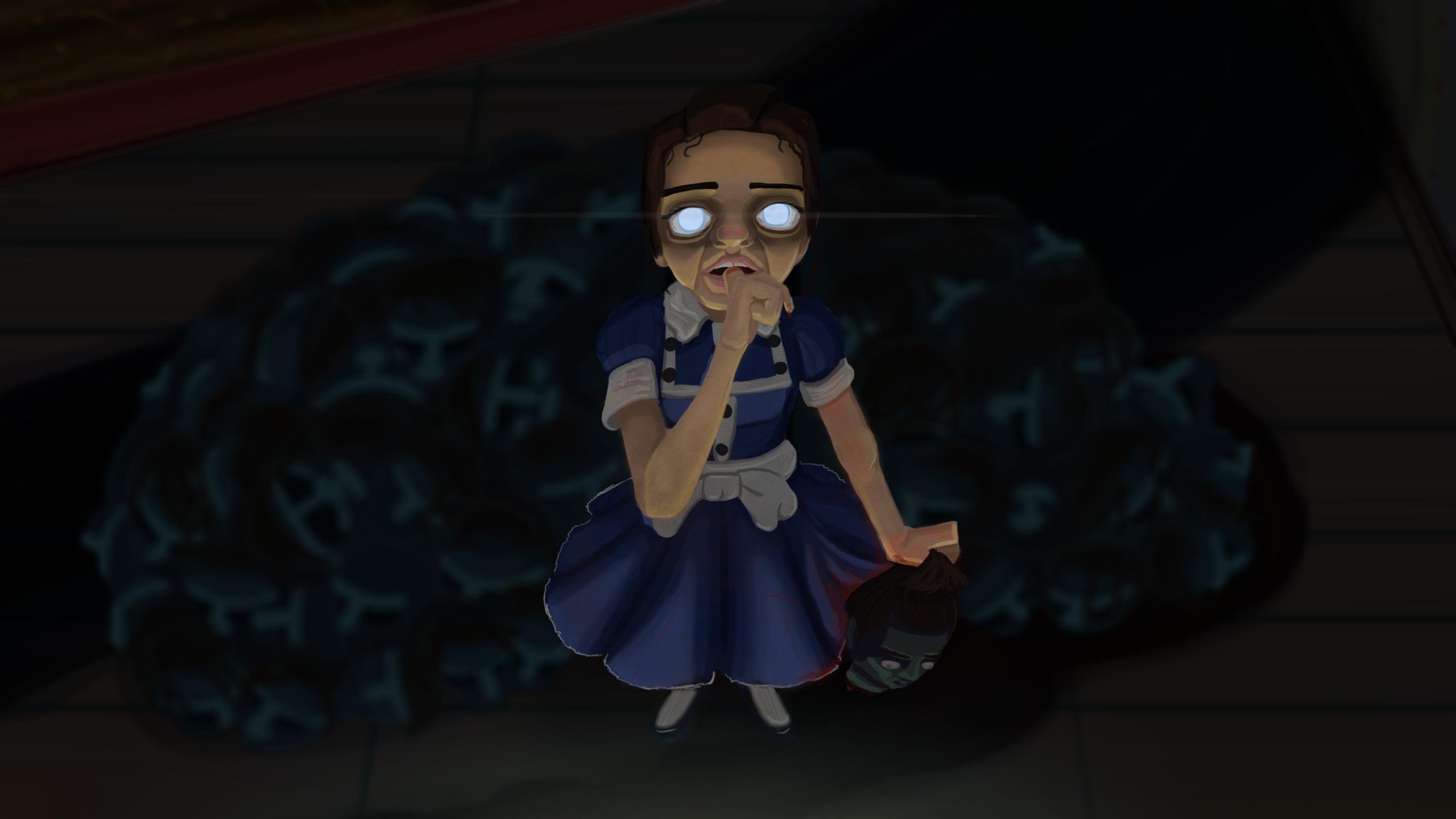 Grotesque Little Girl