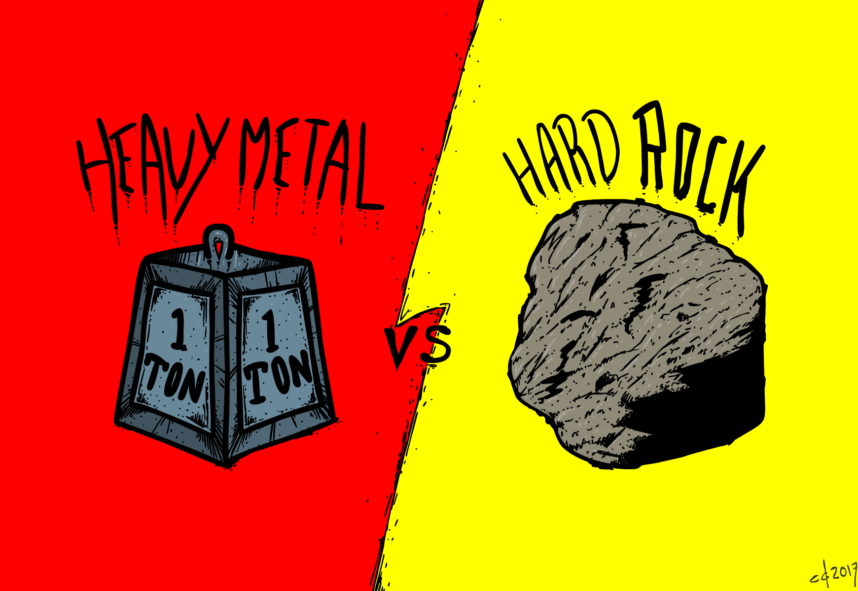 Inktober #29 Heavy Metal Rocks Hard
