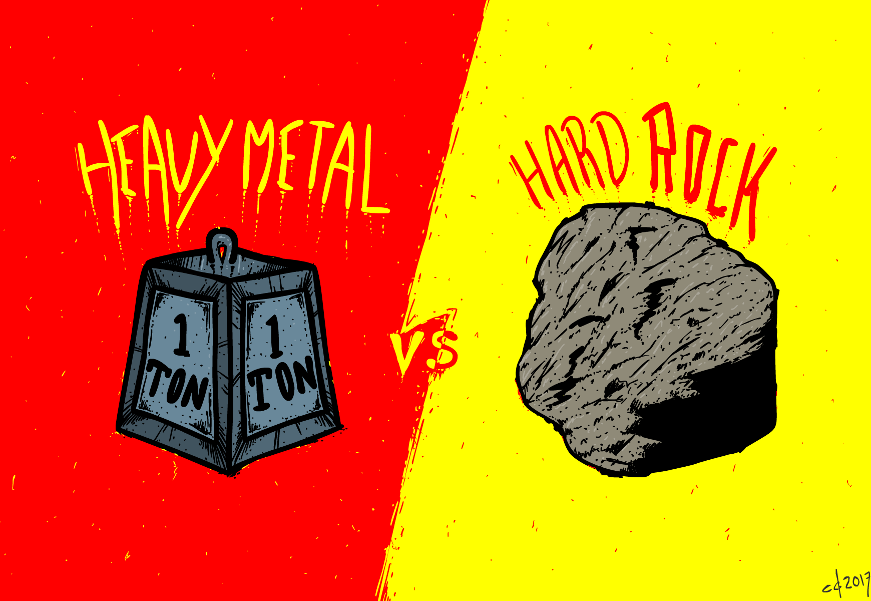 Inktober #30 Heavy Metal Hard Rock Color