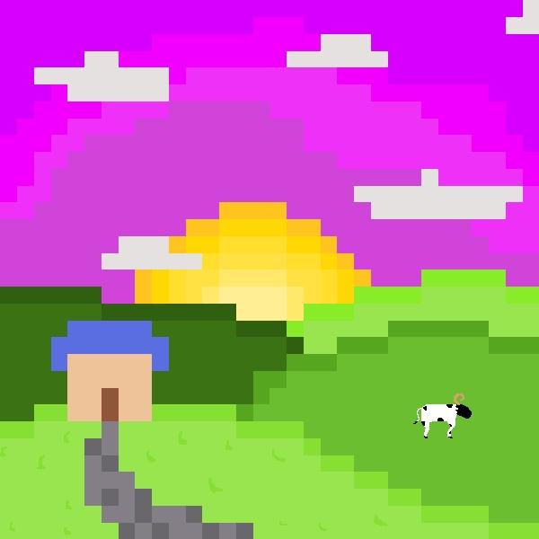 A Simple Pixel Landscape By AriezArt On Newgrounds