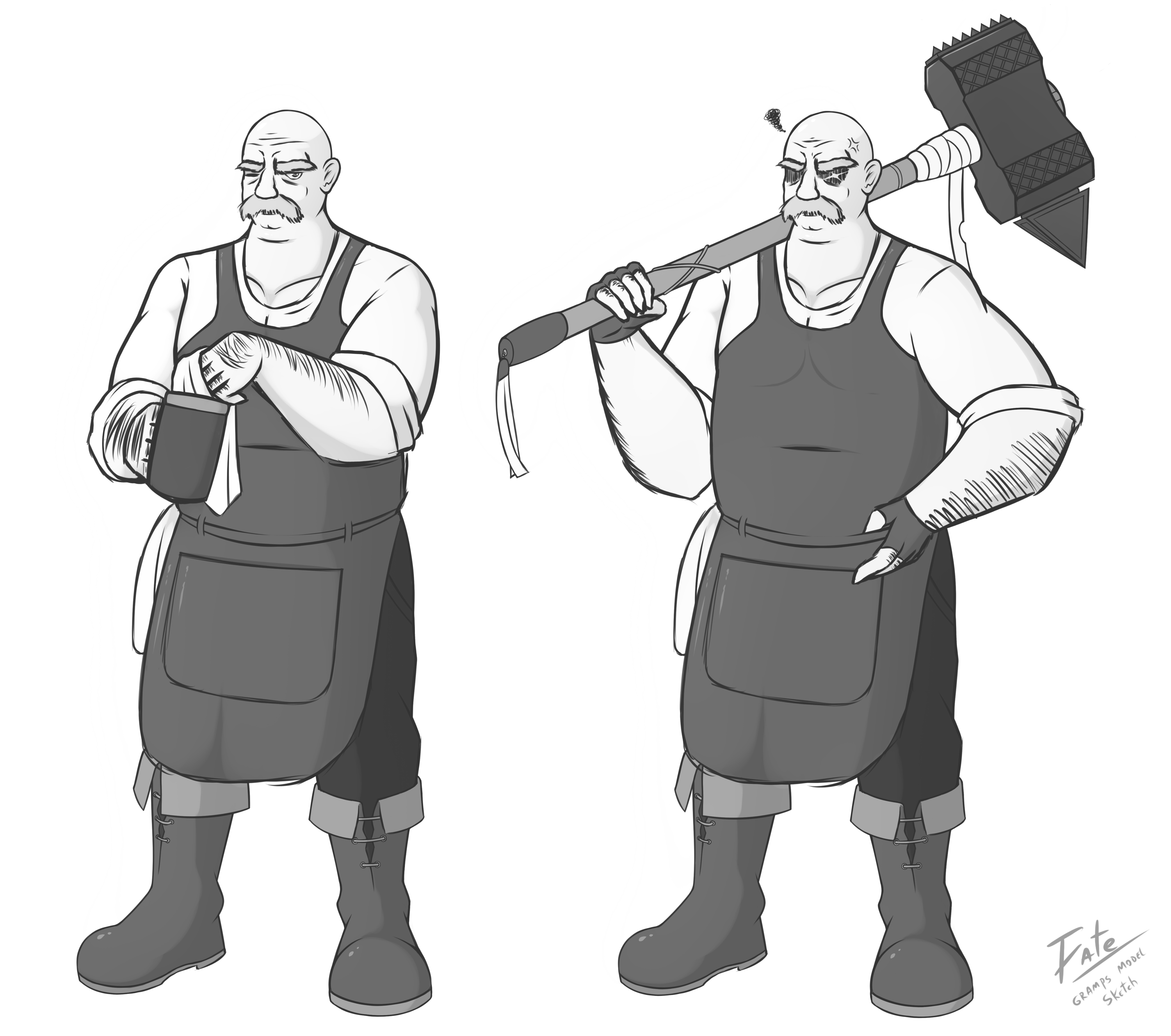 Gramps' Model Sketch (Tales of Faenia project)