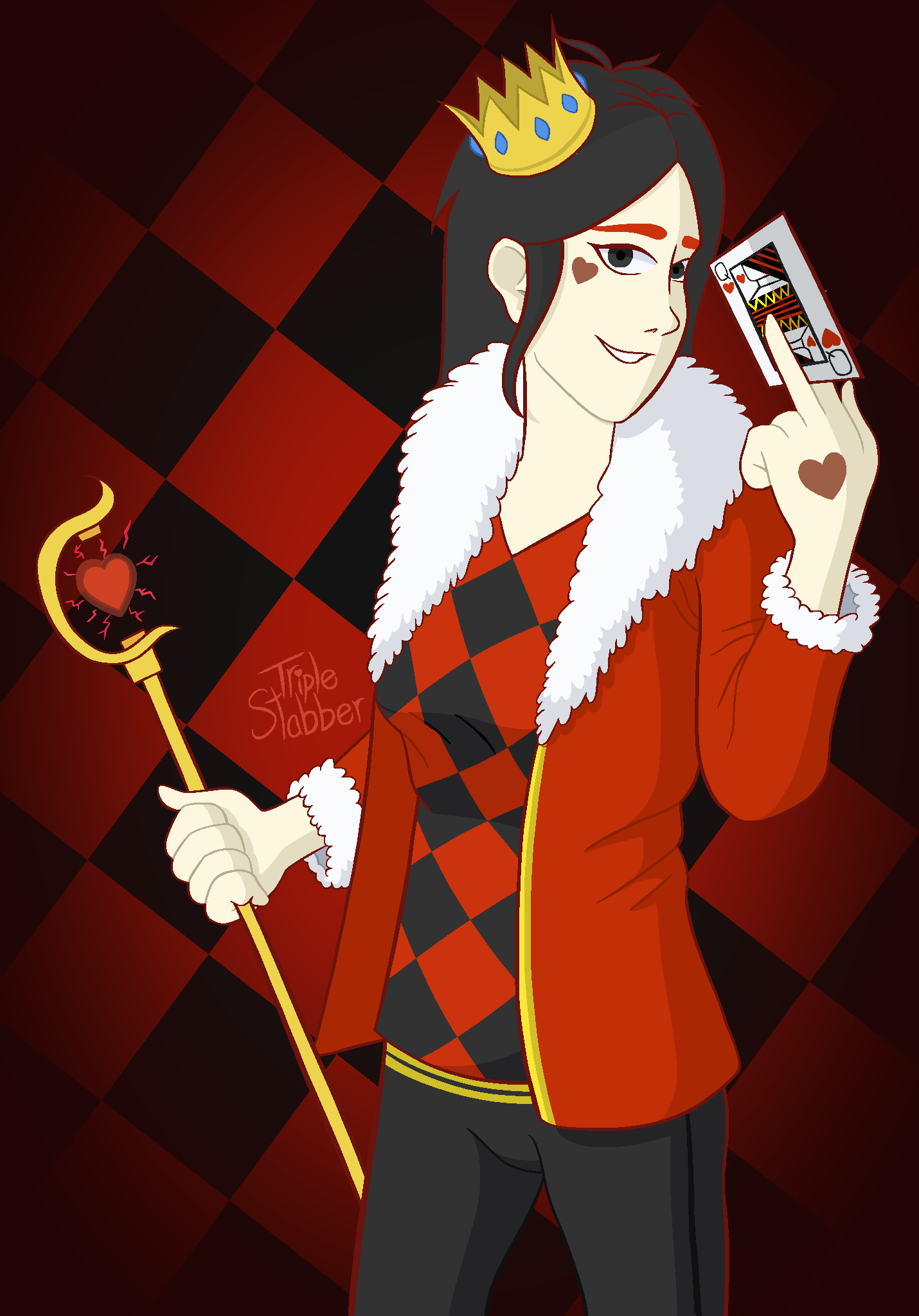 Queen of Hearts Humanized