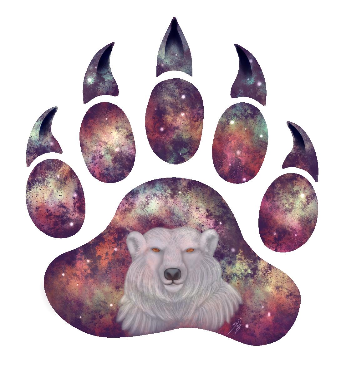 Snowy Space Bear