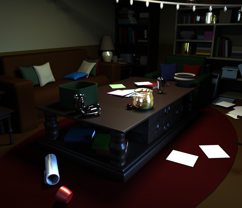 3D Living Room Mesh (WIP)
