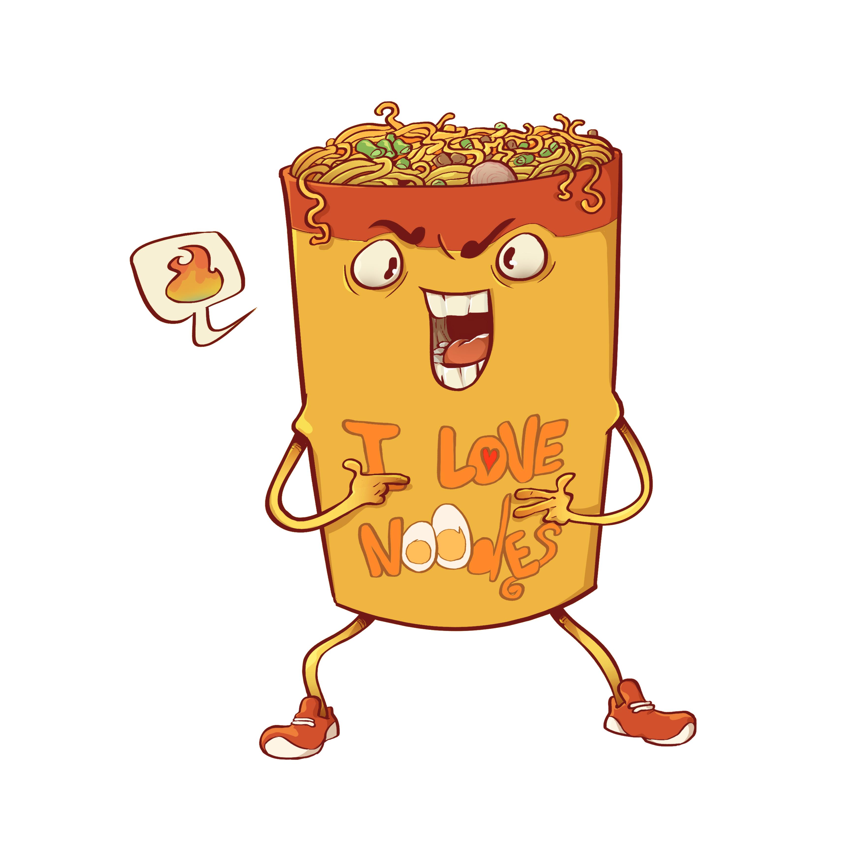 I Love Noodles T-Shirt design