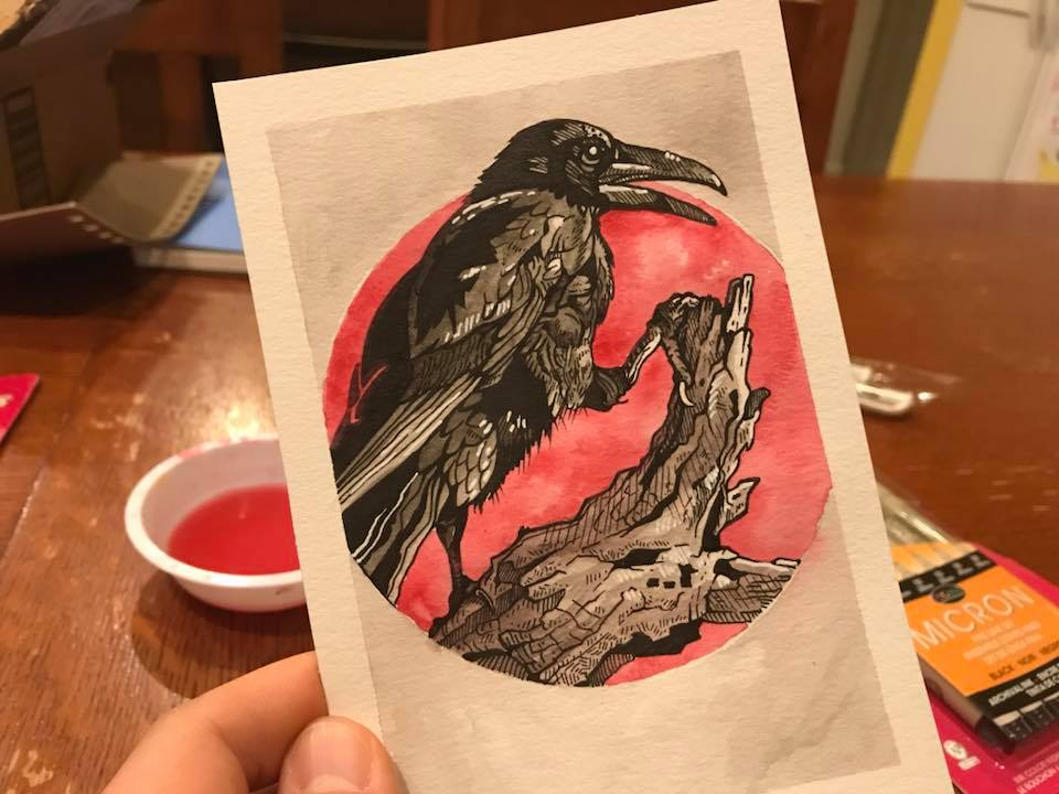 Inktober 2017 #14 - Crow