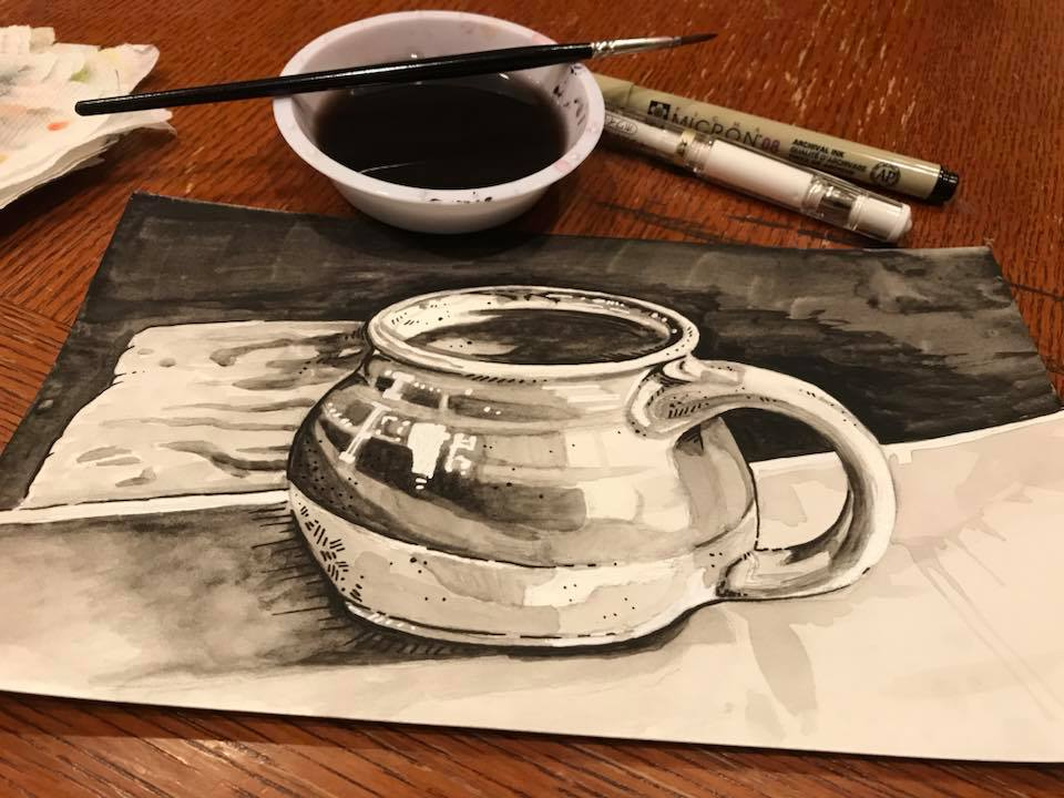 Inktober 2017 #17 - Mug