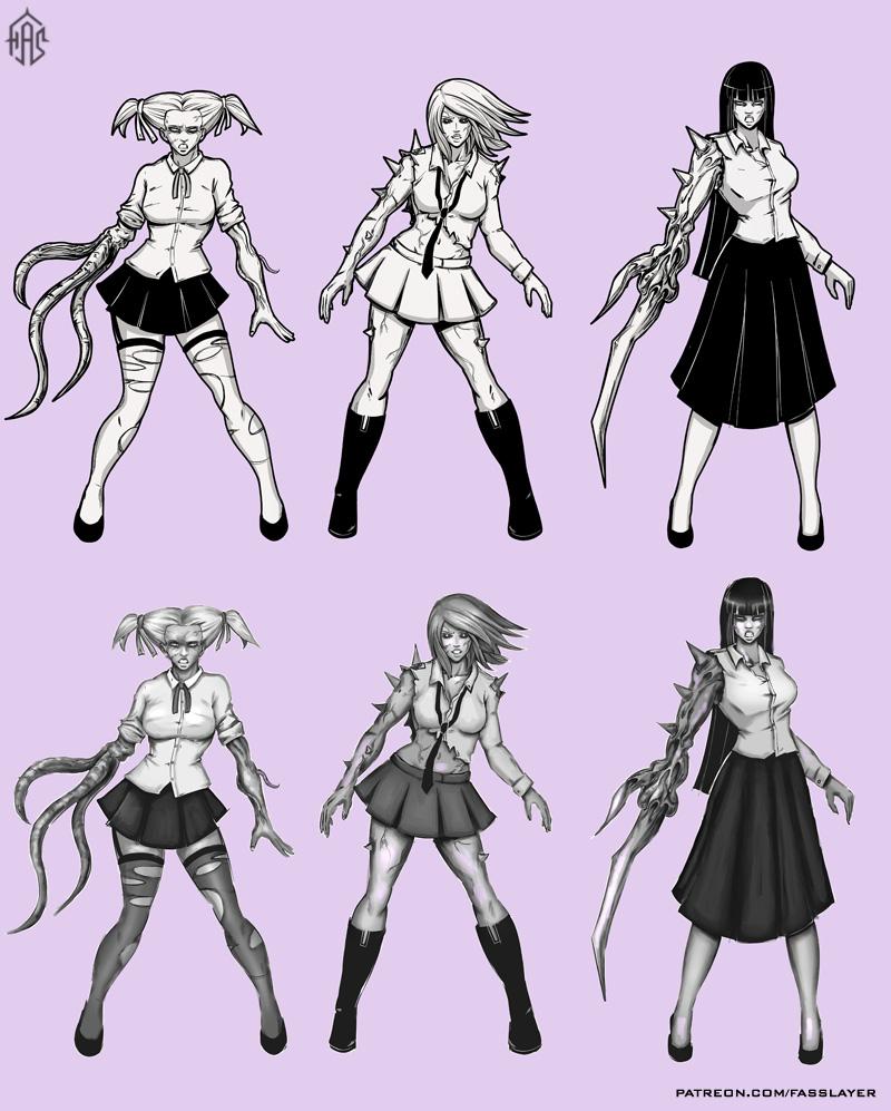 Zombie Schoolgirls