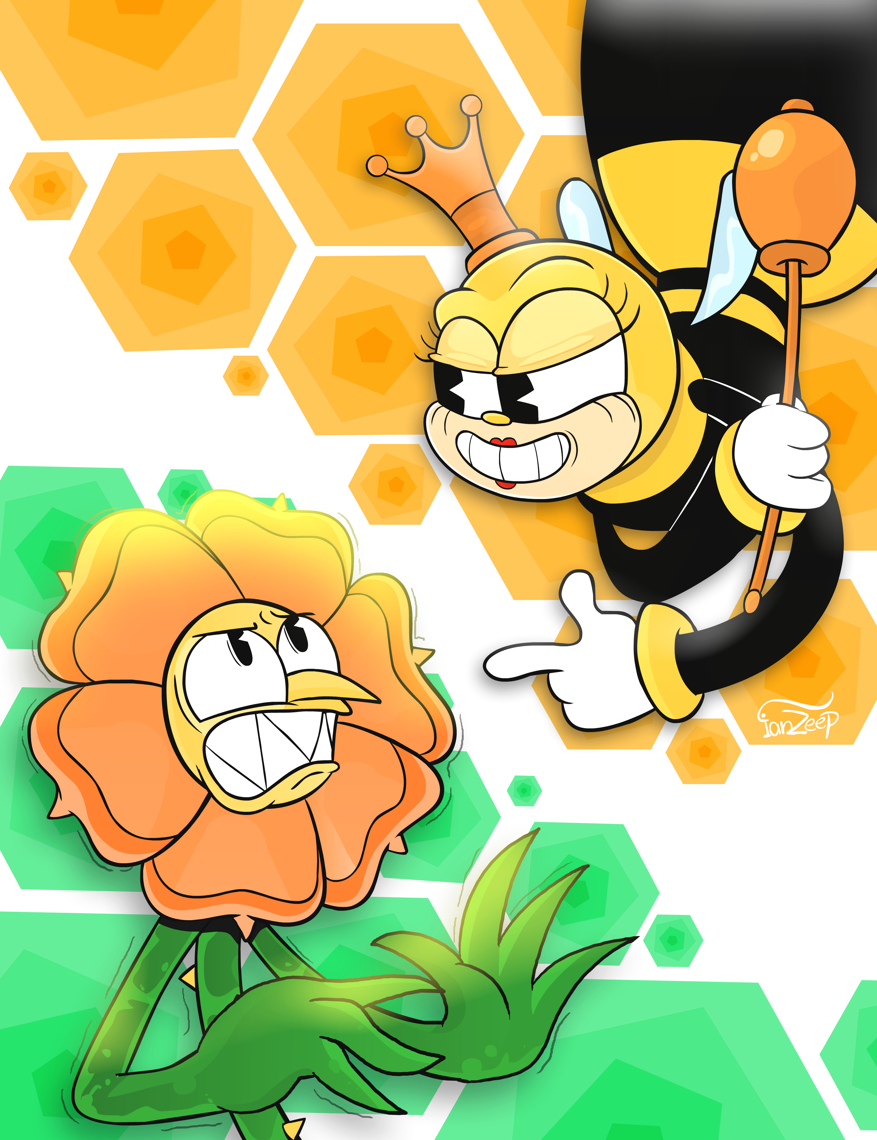 Cuphead - Cagney Carnation & Rumor Honeybottoms
