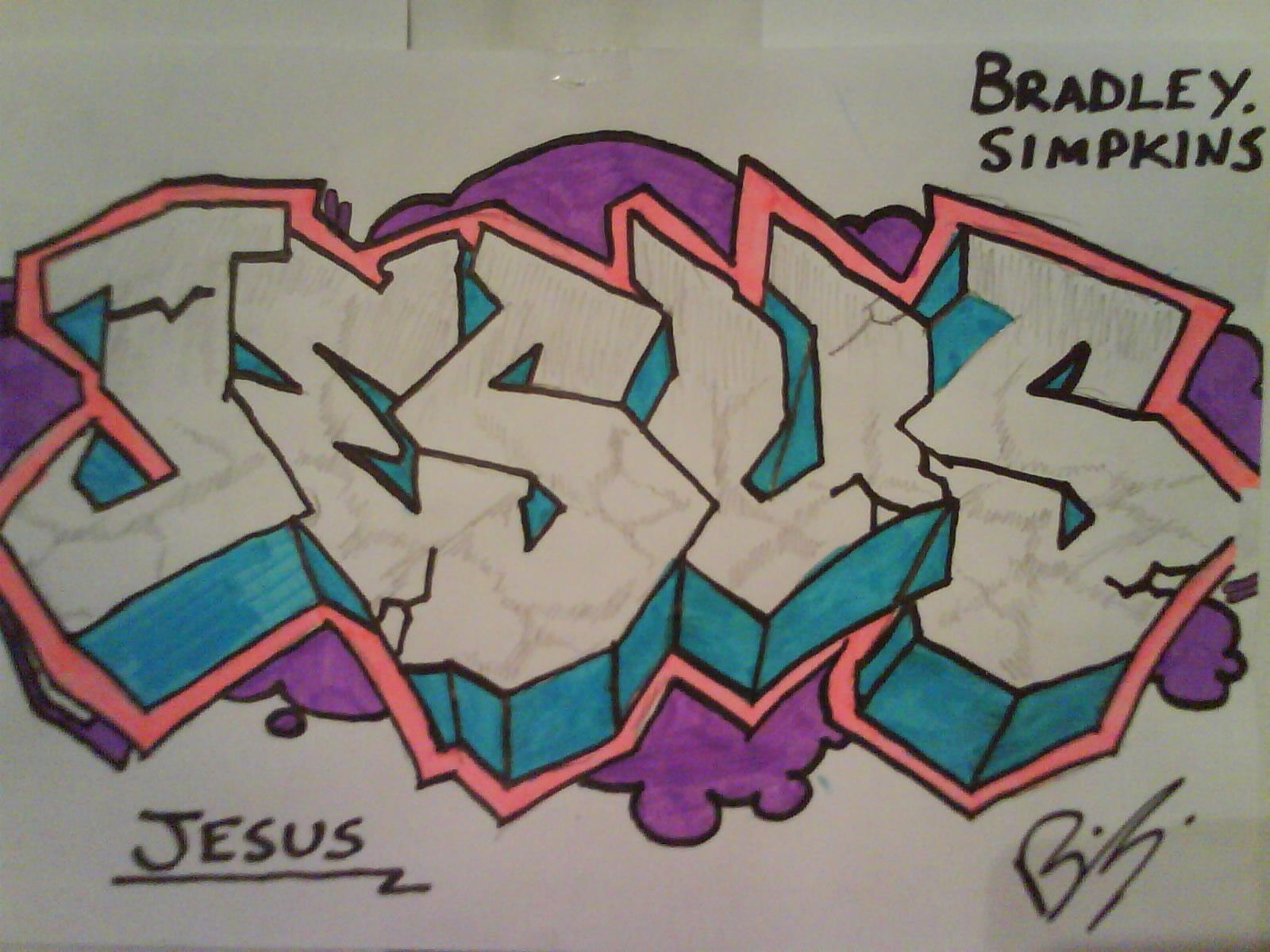 Graffiti - JESUS by Brad8550 on Newgrounds