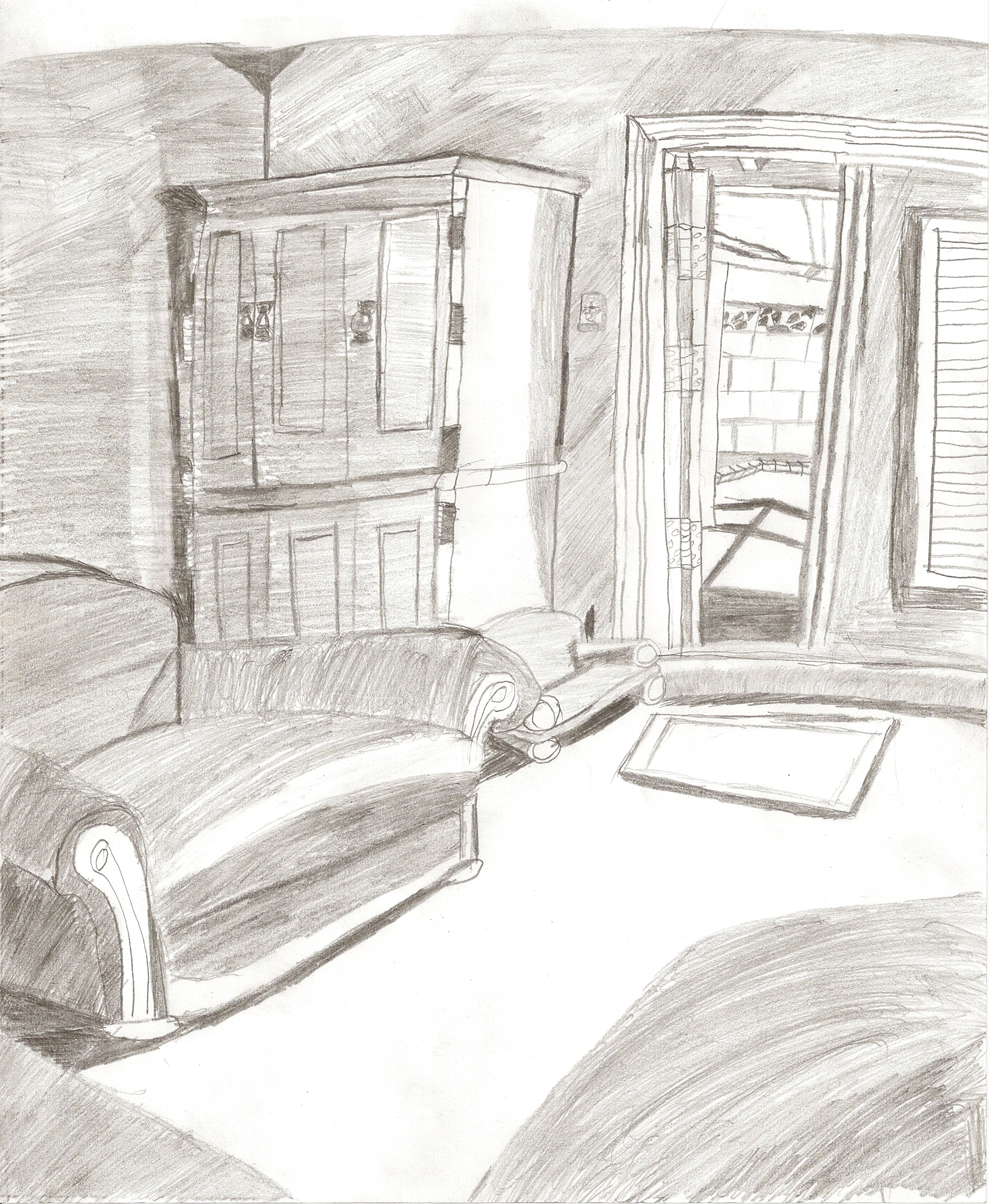 Living Room Sketch By Pielovinllamas On Newgrounds