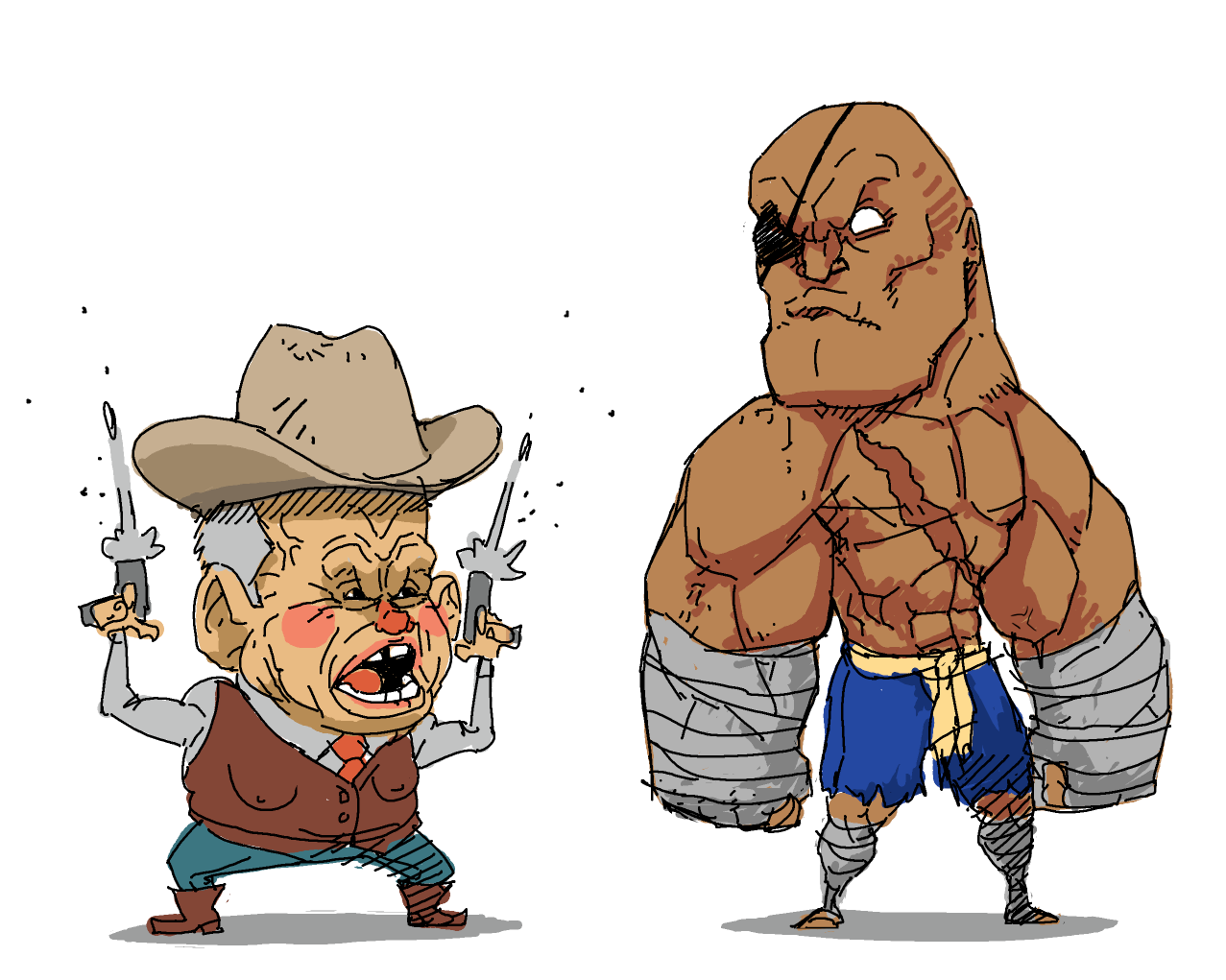 Sagat and the Pedo Cowboy