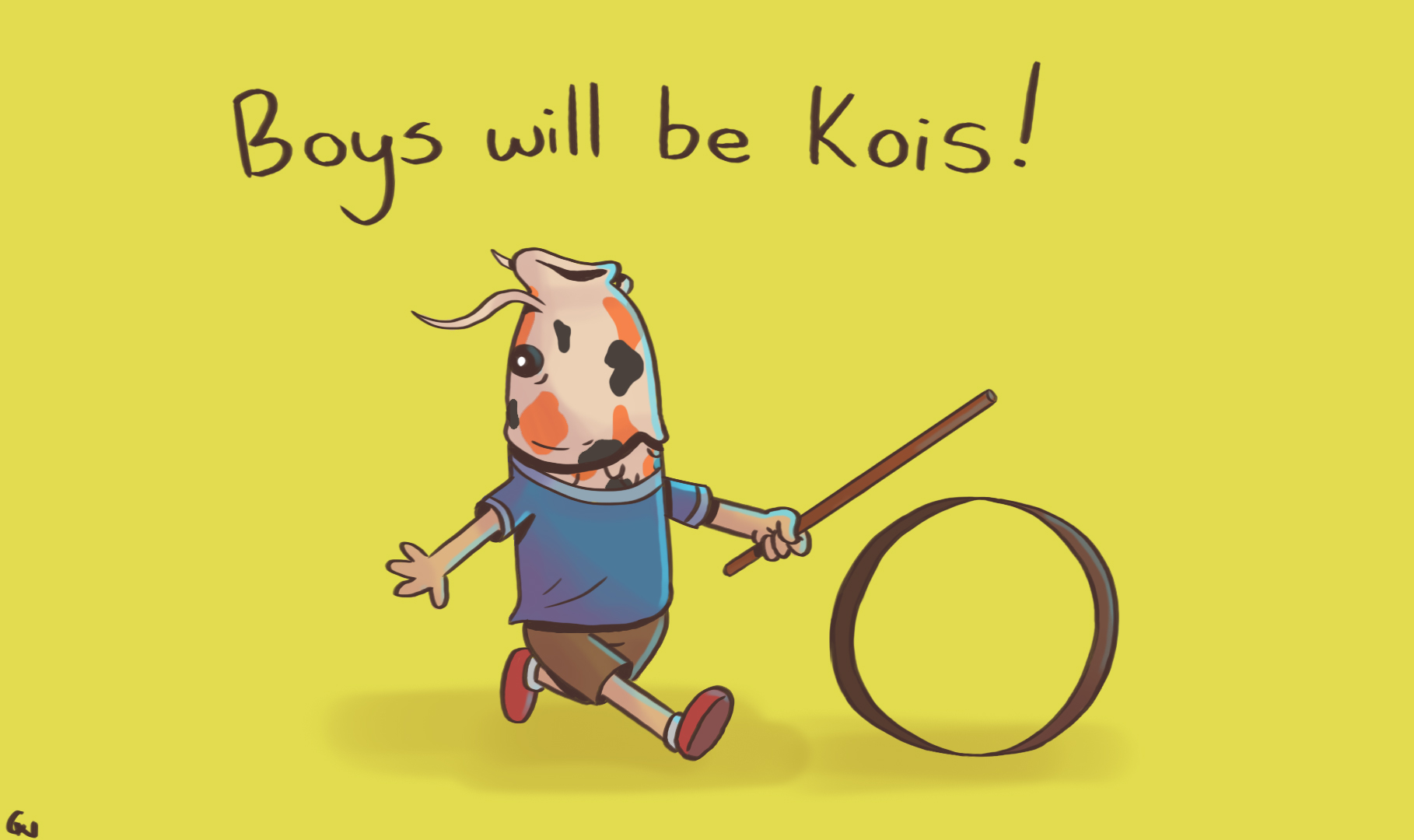 Boys will be kois