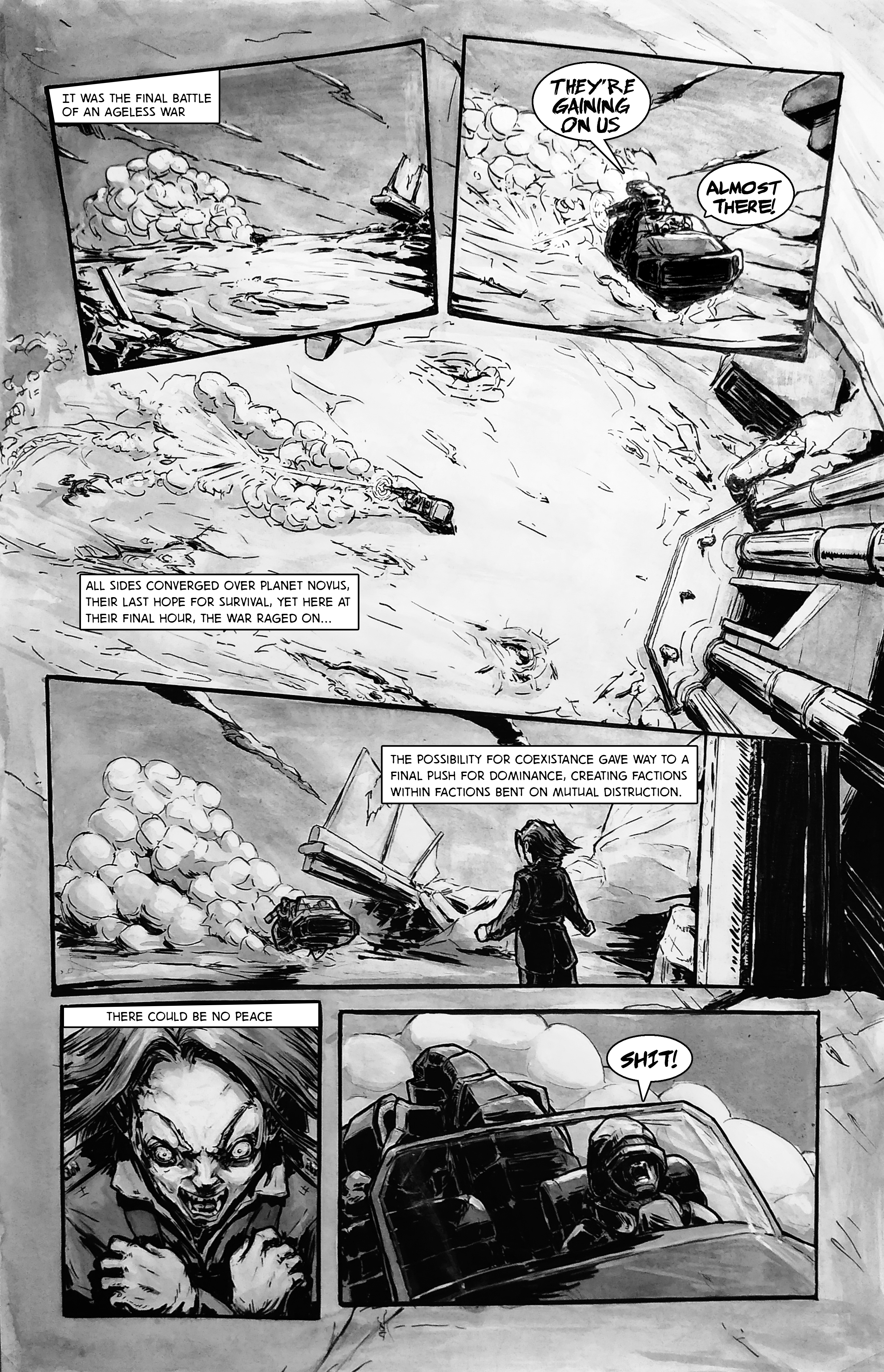 Dead Rebel: Traditional Comic p1of5 (Original)