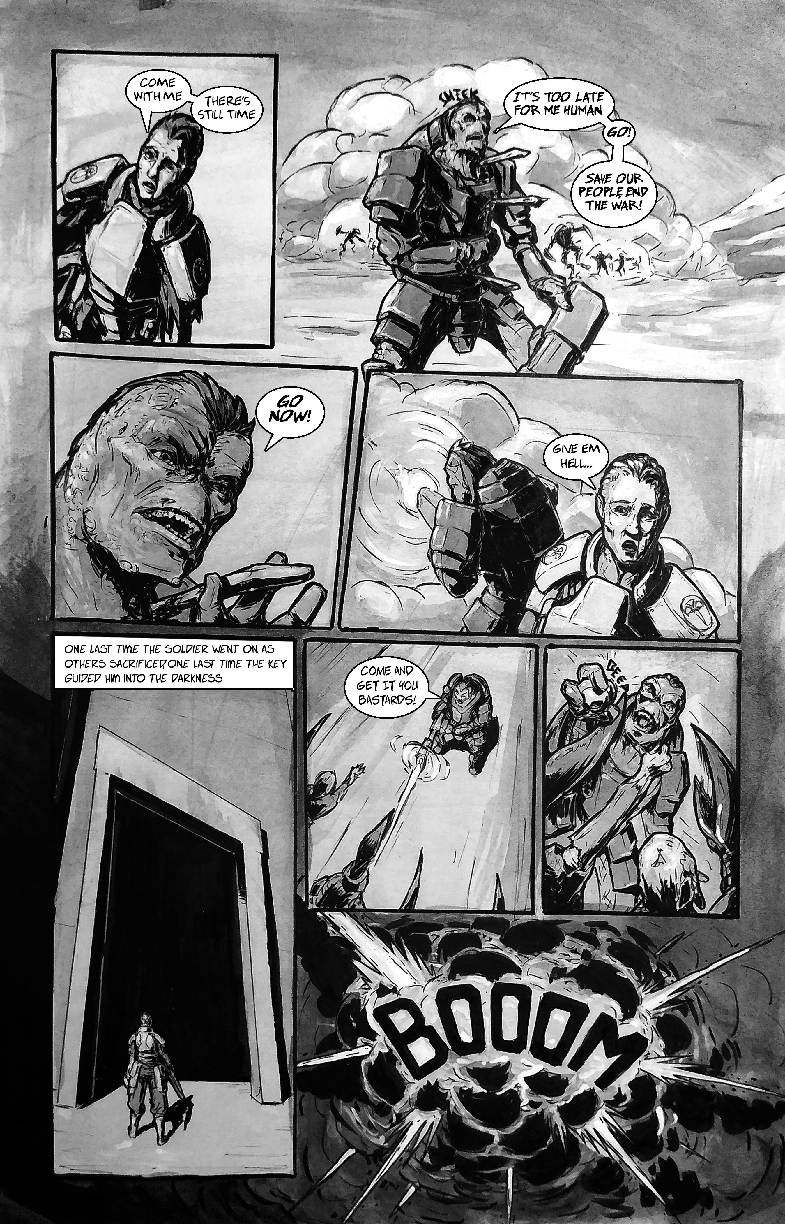 Dead Rebel: Traditional Comic p4of5 (Original