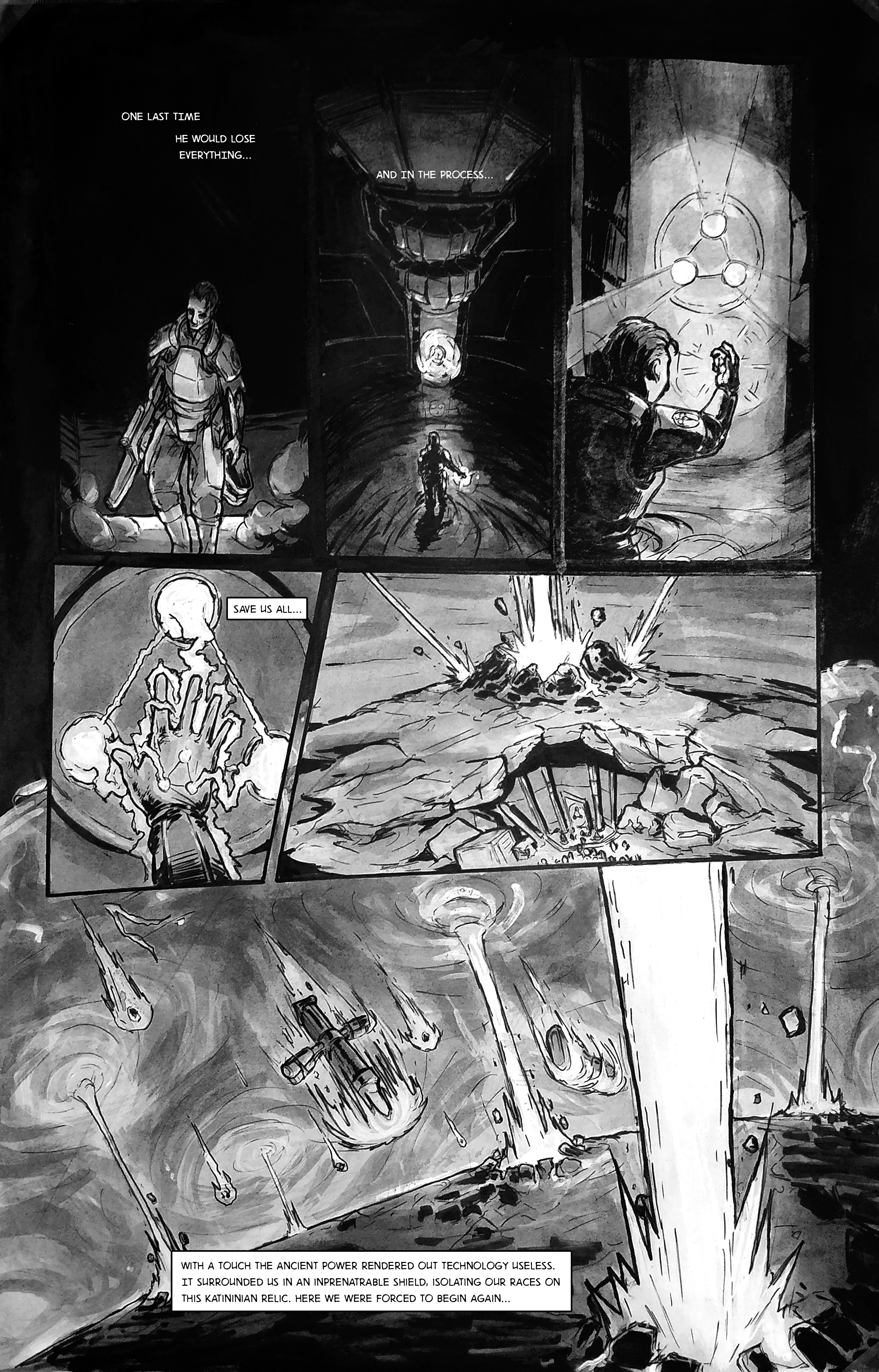 Dead Rebel: Traditional Comic p5of5 (Original
