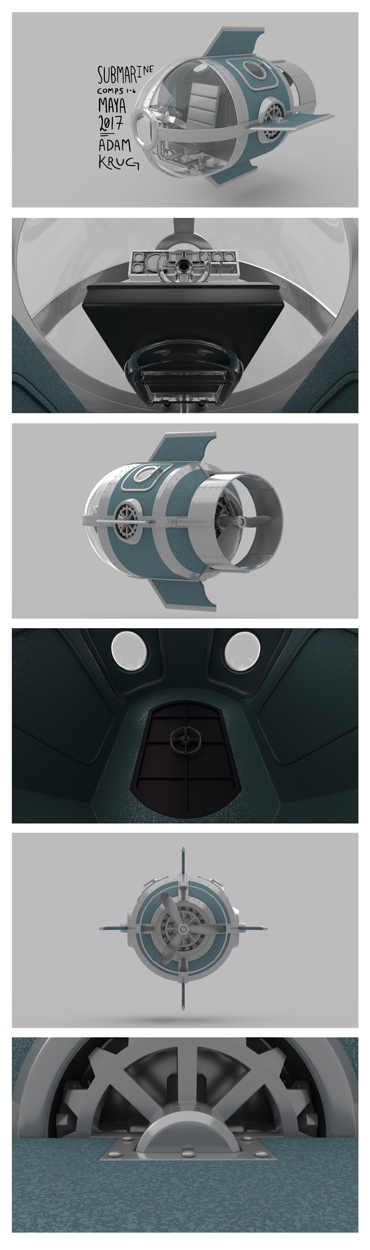 Submarine Renders