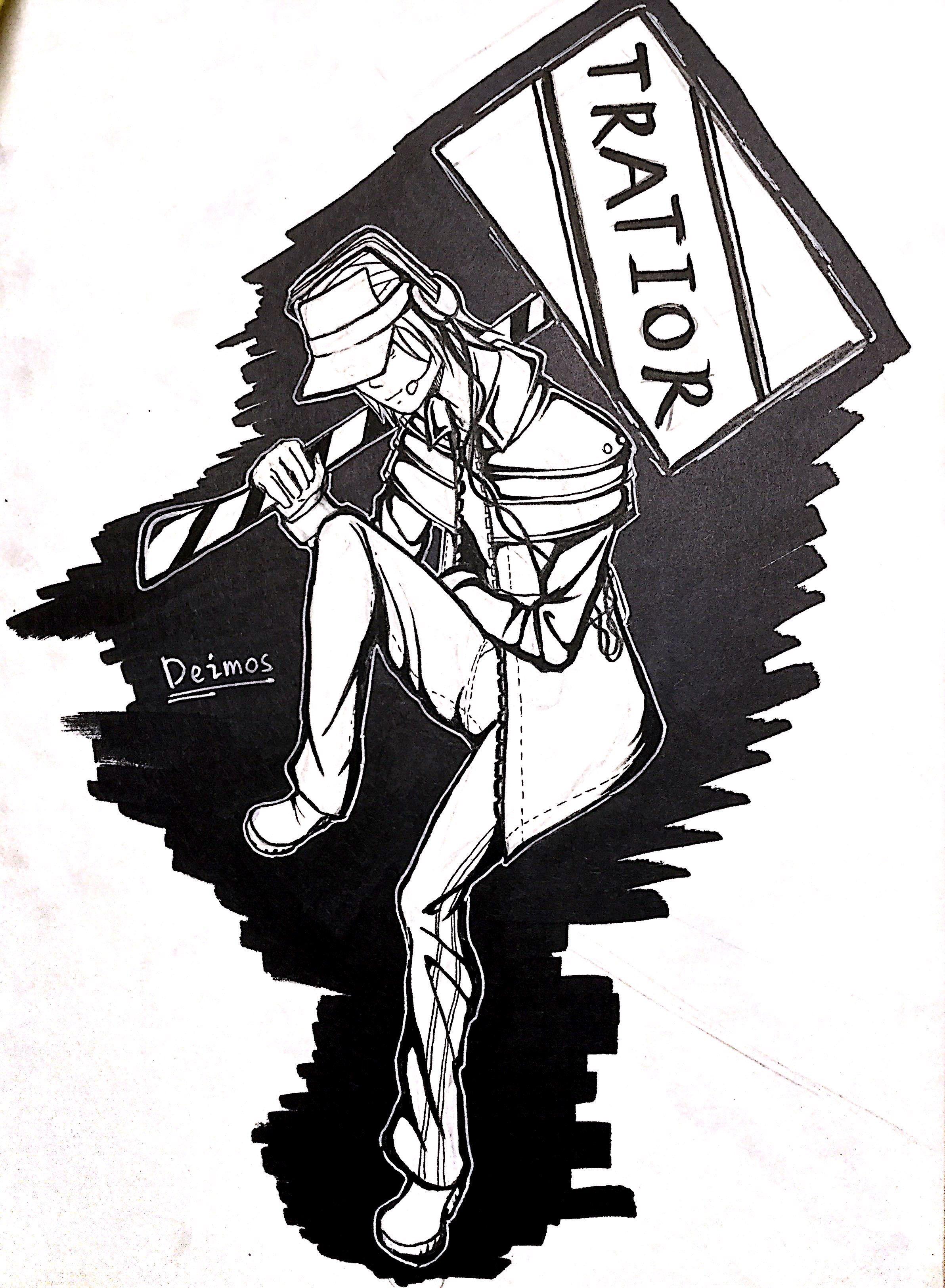 Deimos (black and white)