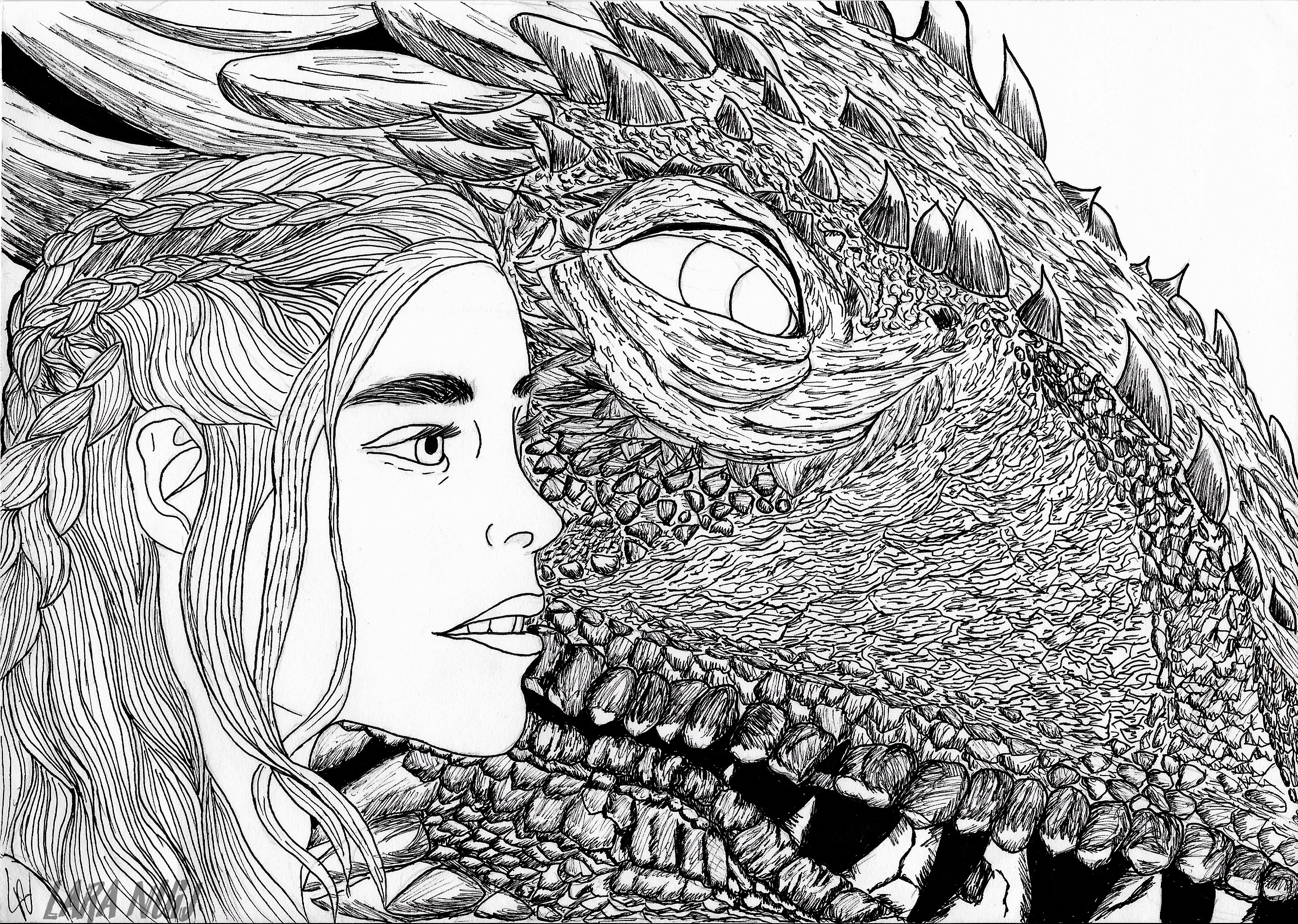Daenerys And Dragon Game Of Thrones By Laracroft02 On Newgrounds