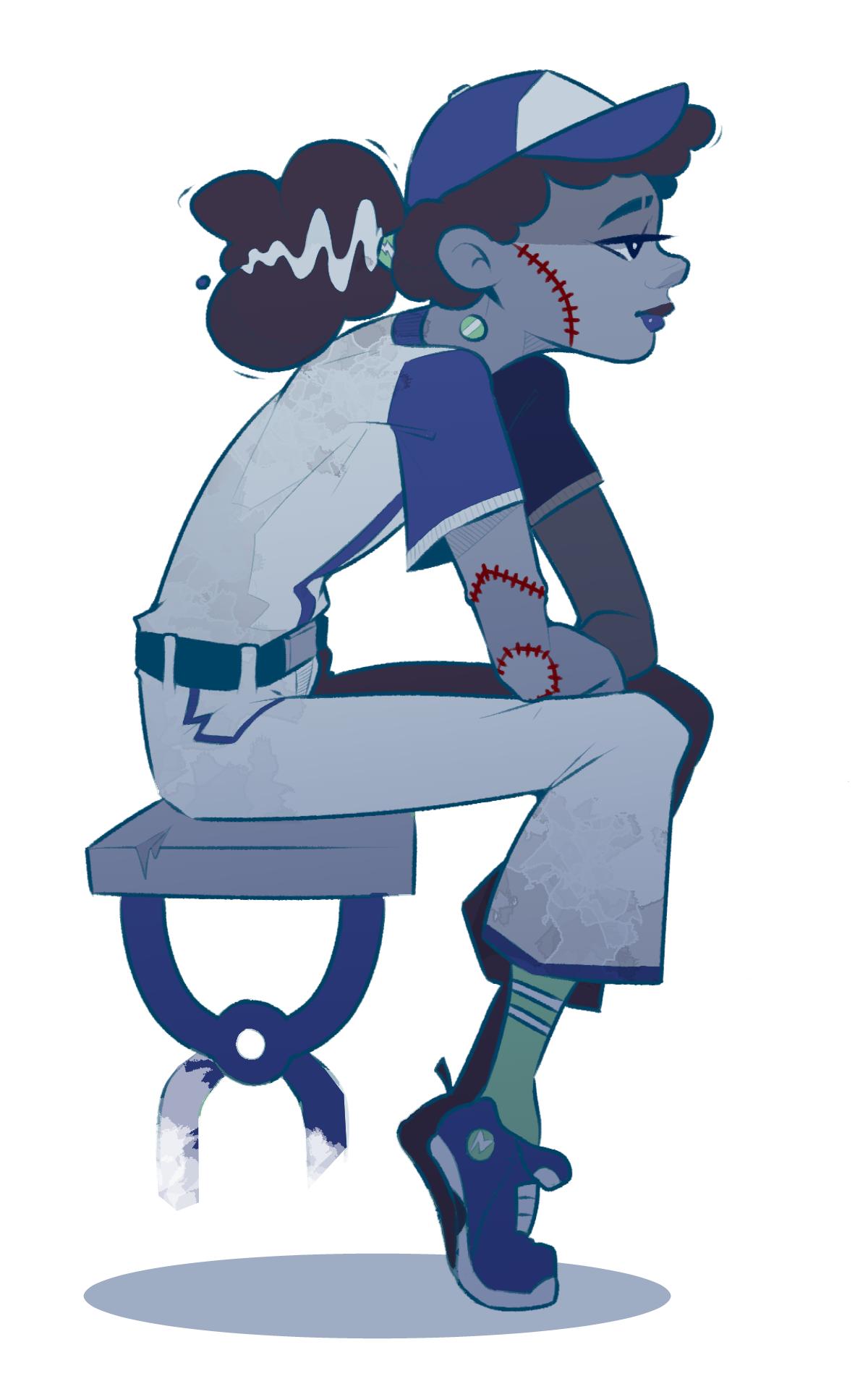 Baseball Frankenstein Girl By DabbleDraws On Newgrounds