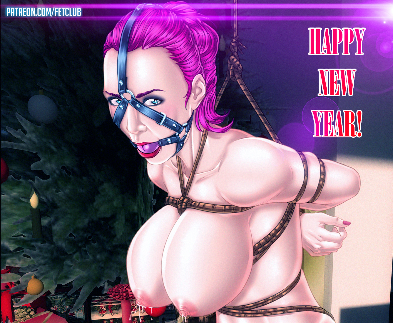 Like this sexy slave girl in a holiday bondage, who's ready to serve her  Master or Mistress! Happy New Year, guys! :D