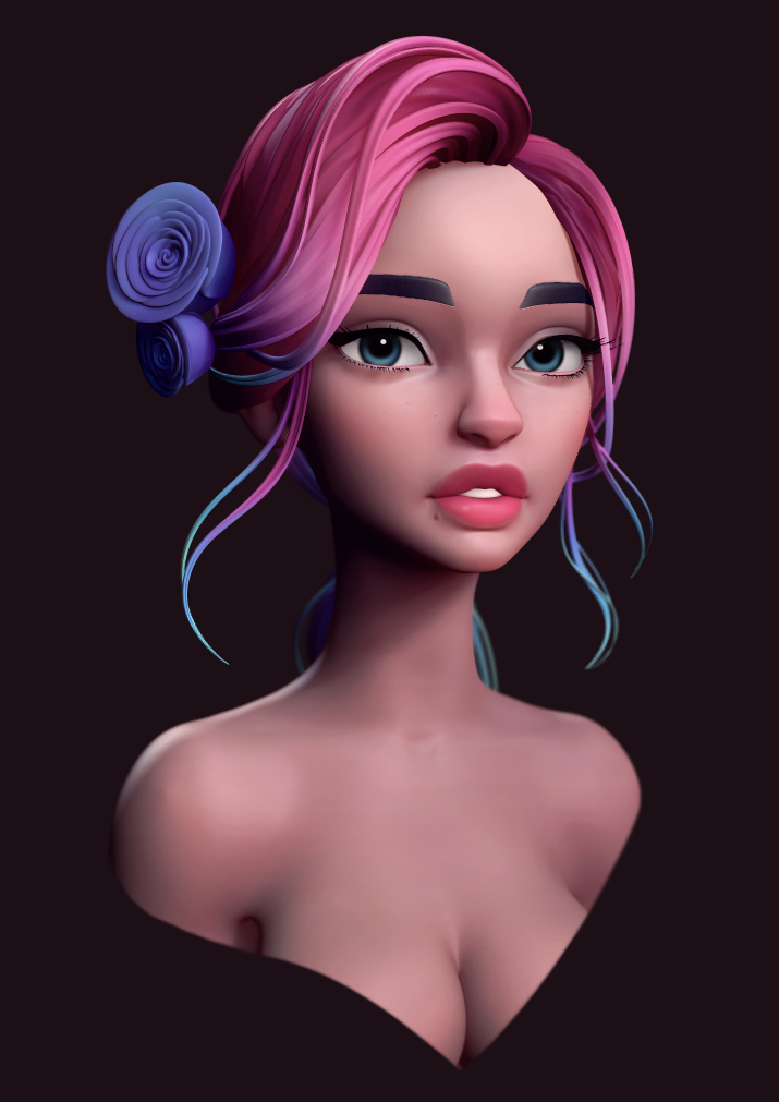 How to Paint a Head using Zbrush and Photoshop
