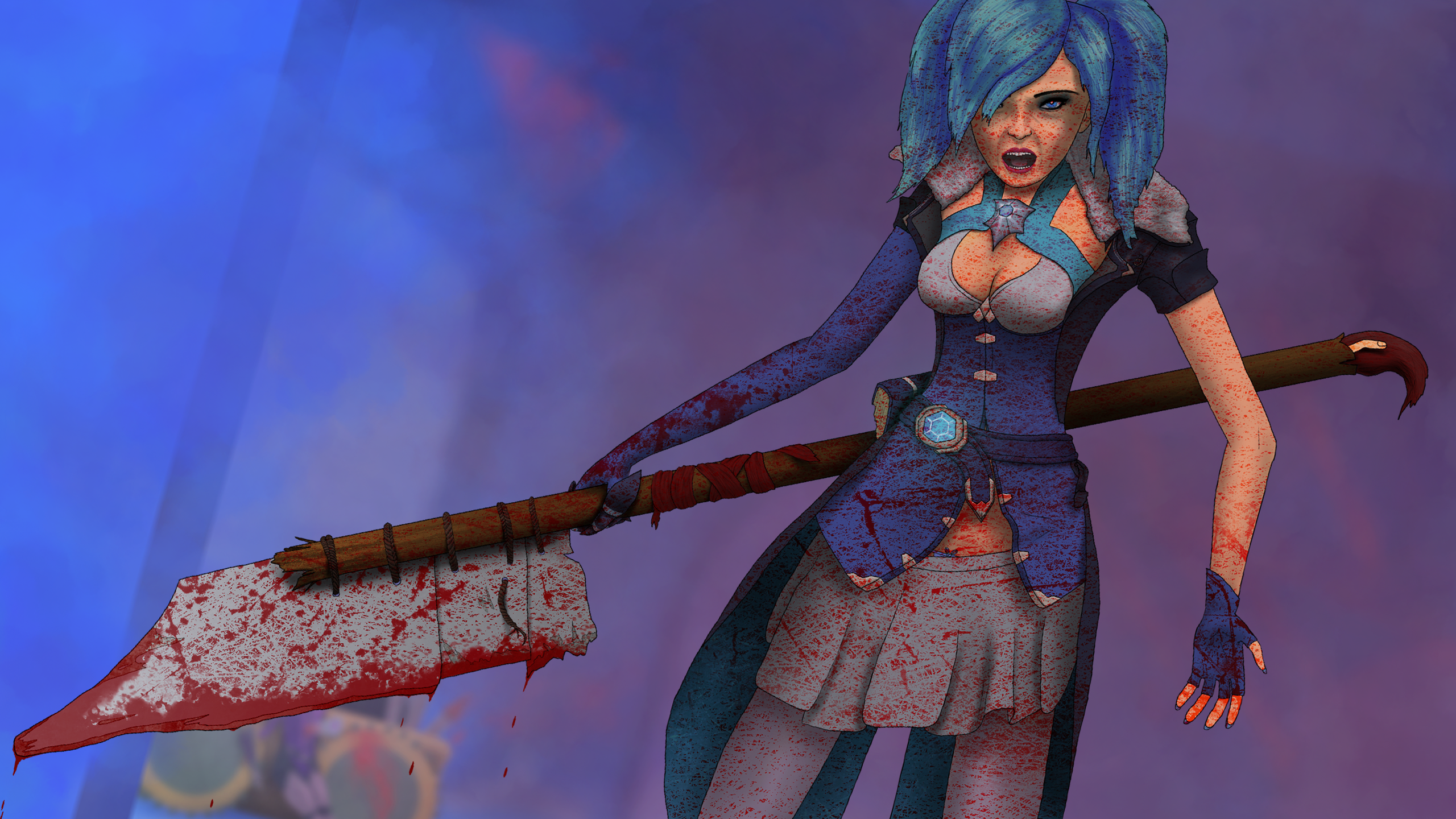 Mad Evie fanart (bloody version)