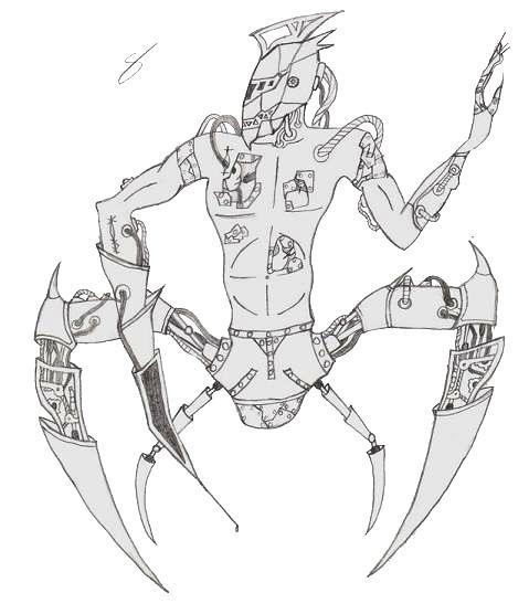 Cyborg B/W