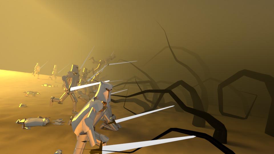 Fantasy Battle in Desert