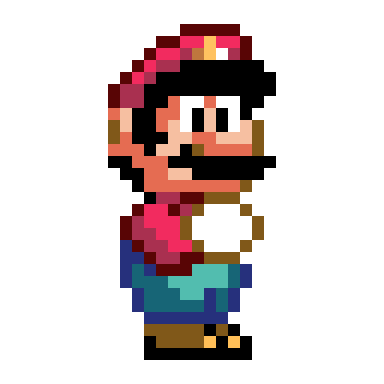 Super Mario World Mario Sprite by SnowyPuzzle on Newgrounds