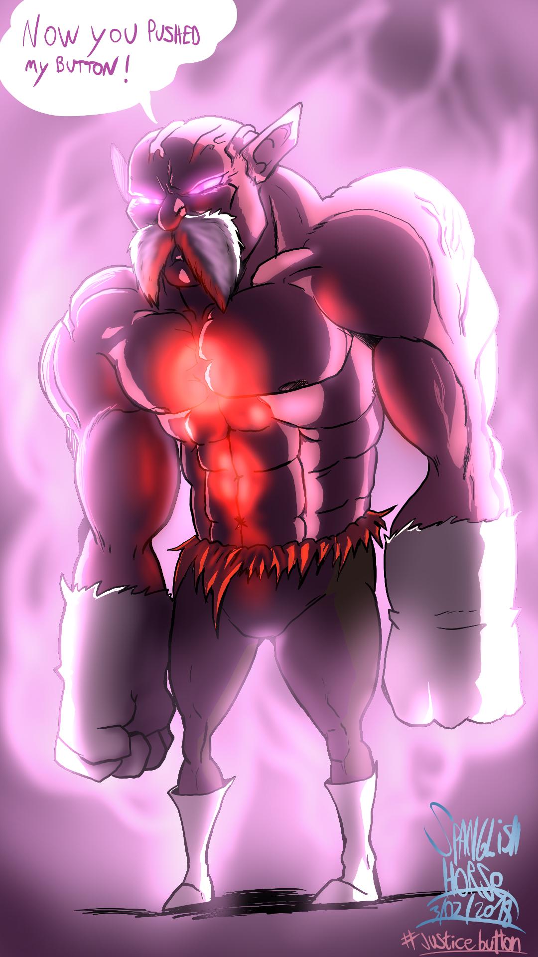 God of Destruction mode Toppo