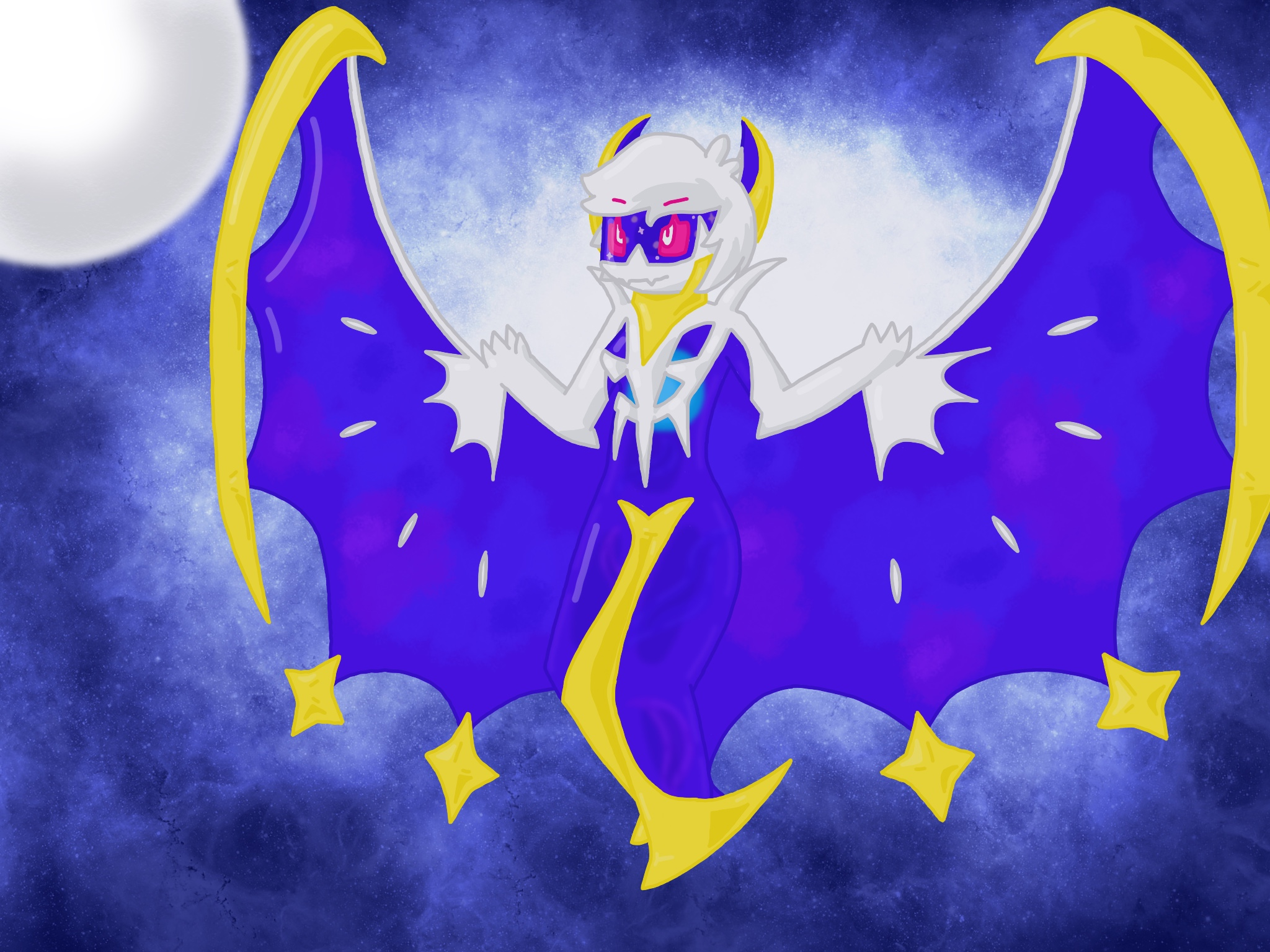 Lunala By Alphysans On Newgrounds