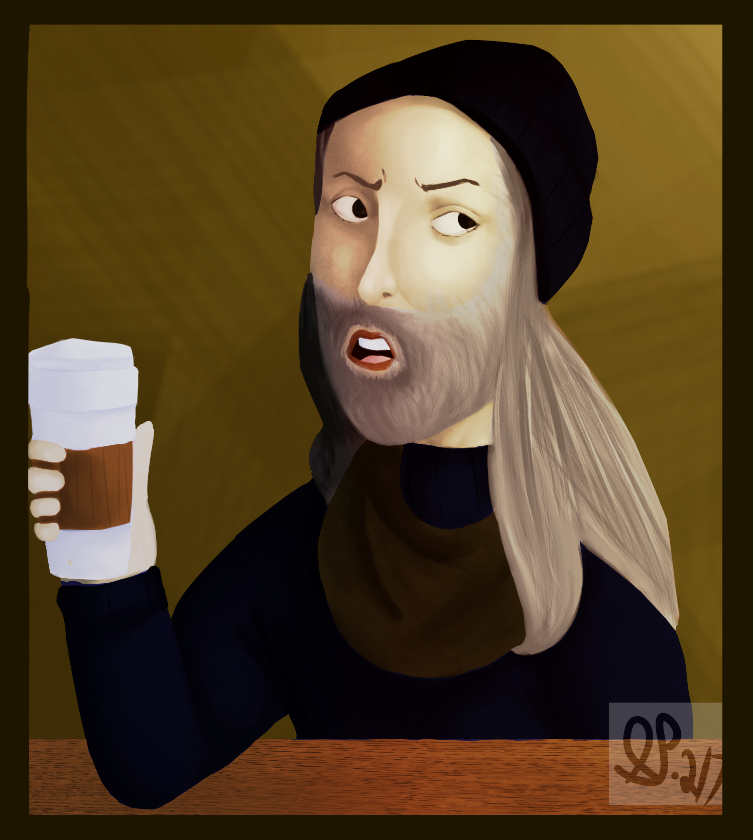 hipster da vinci i was a classic artist before it was cool by