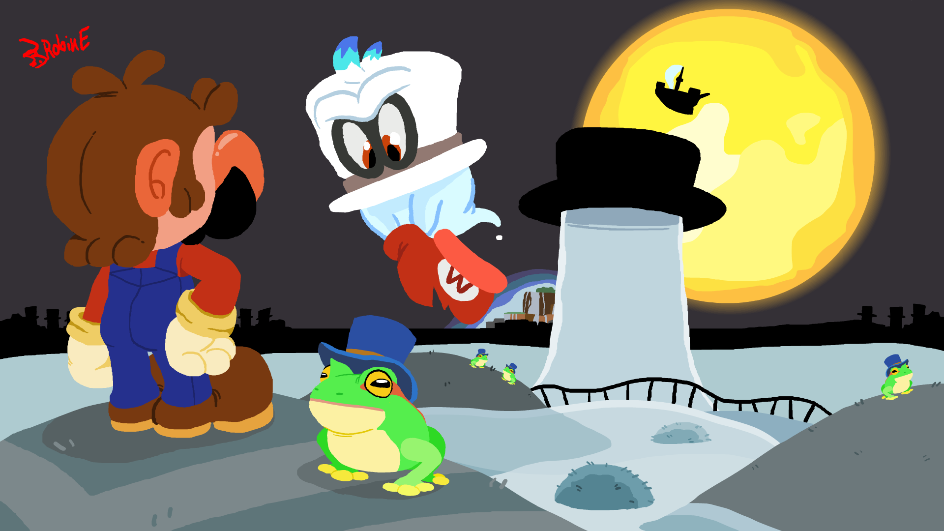 Super Mario Odyssey 2 Welcome To Cap Kingdom By Foreveratoon On Newgrounds