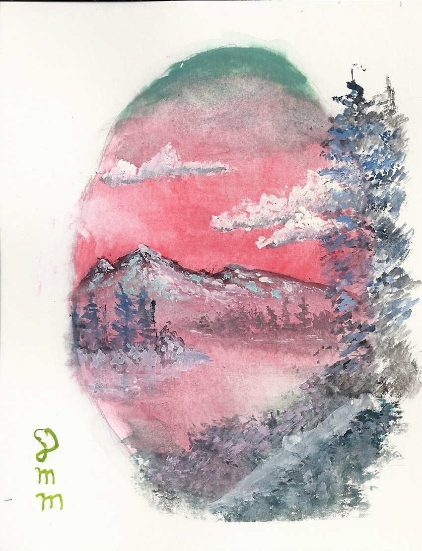 The Joy of Painting a mountain