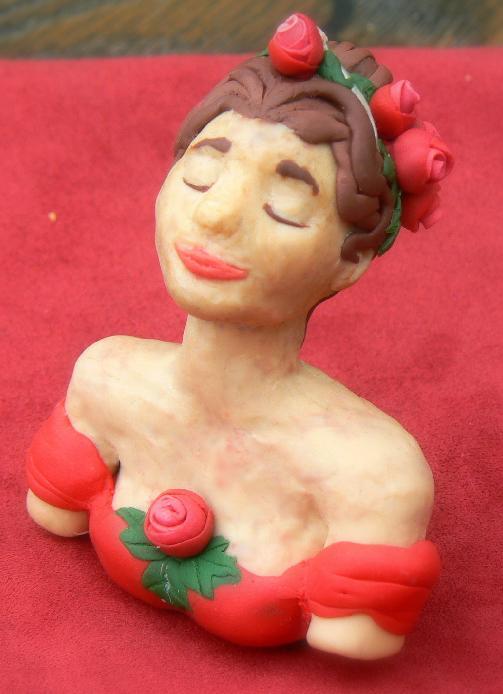Rose Red Sculpture