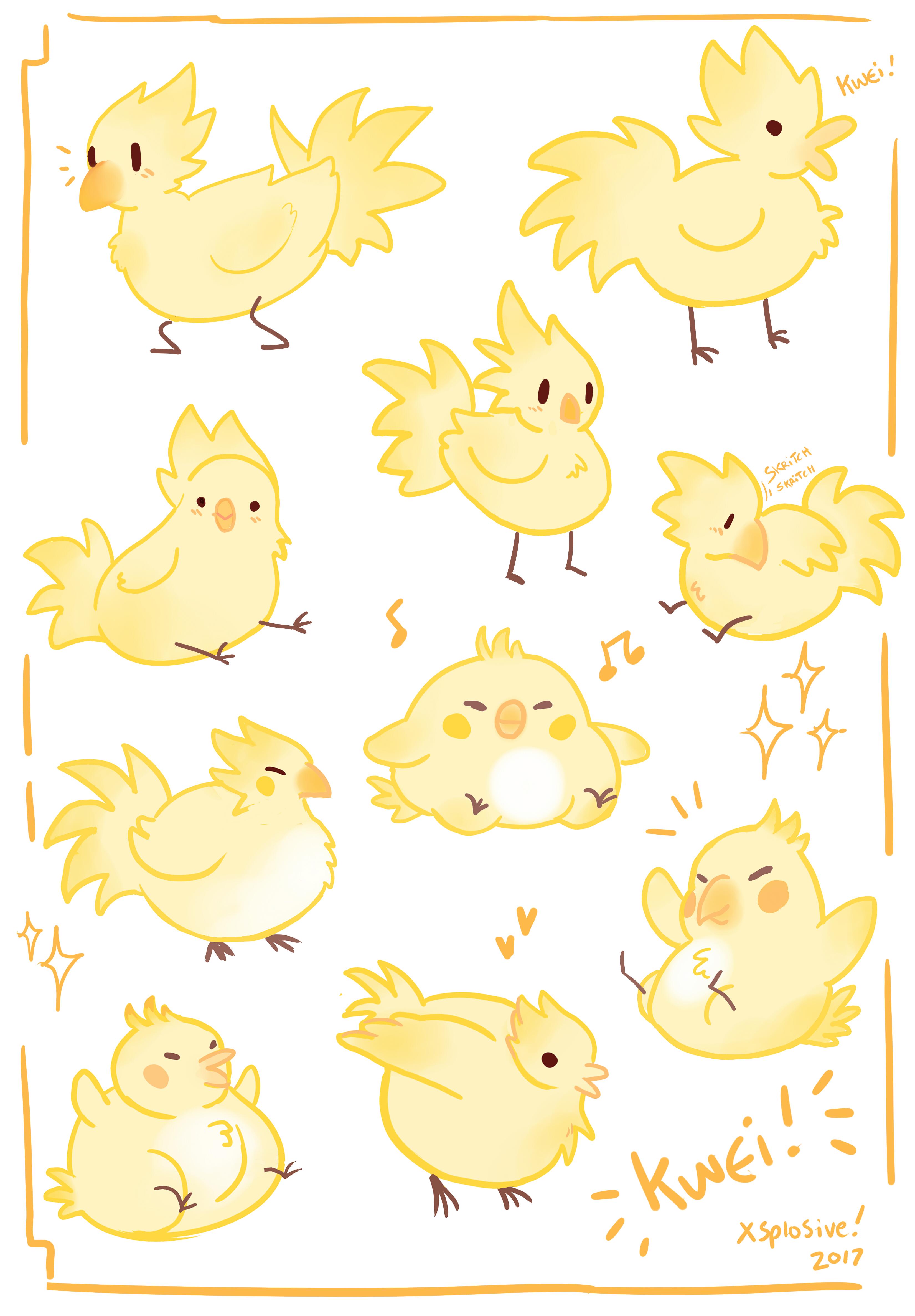 Kwei! Chocobo Sticker Set