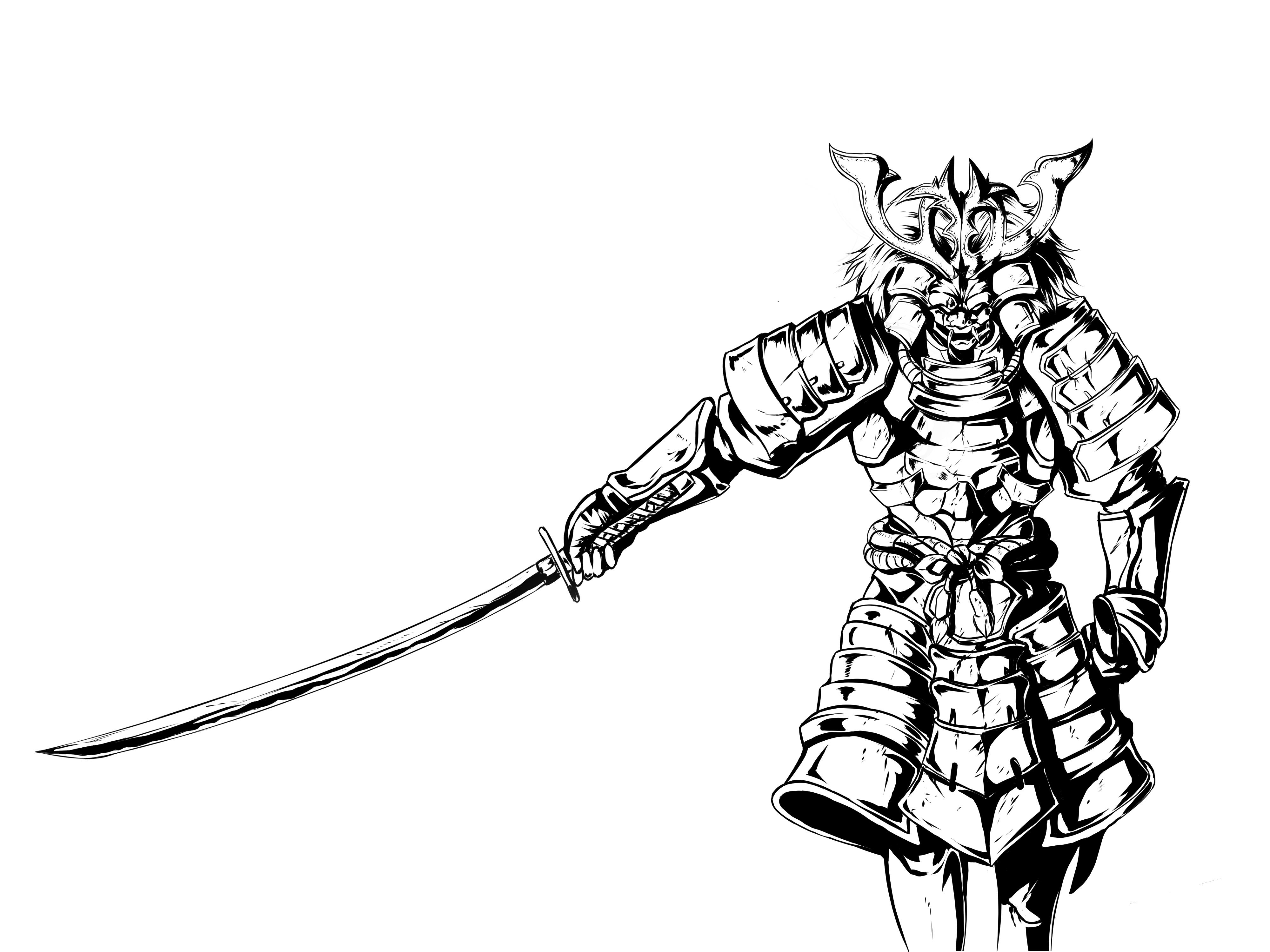 samurai WIP for Sony