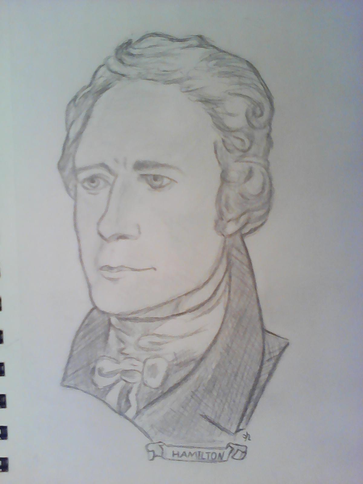 Alexander hamilton pencil drawing