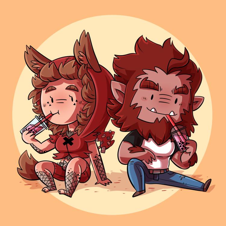 Werewolves buddies