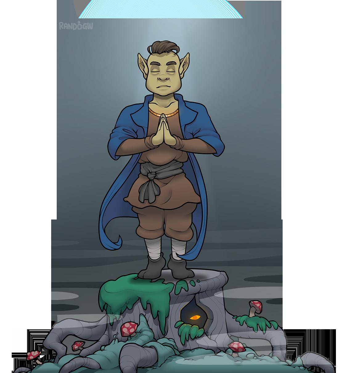 Half-Elf Monk | [unnamed]