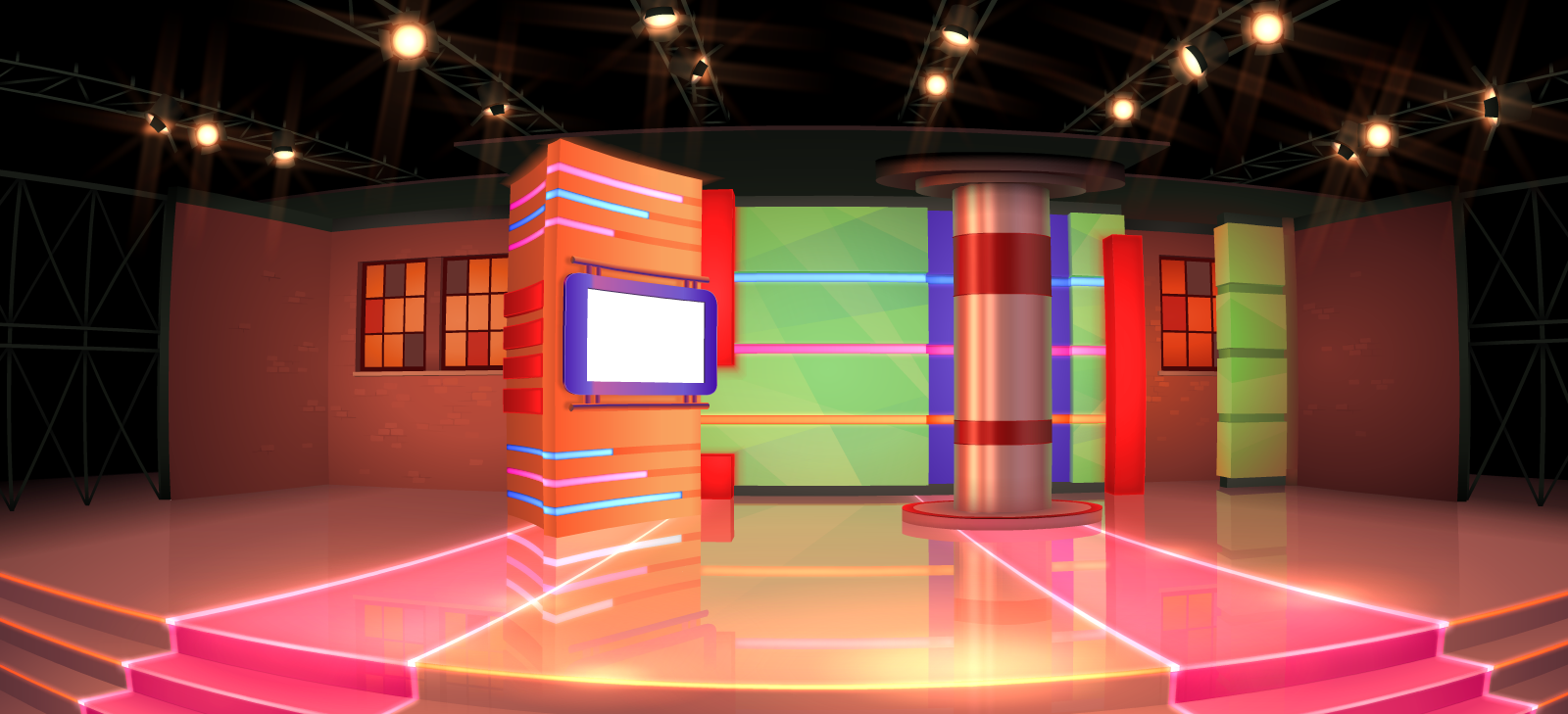 TV Show Stage - Background Commission