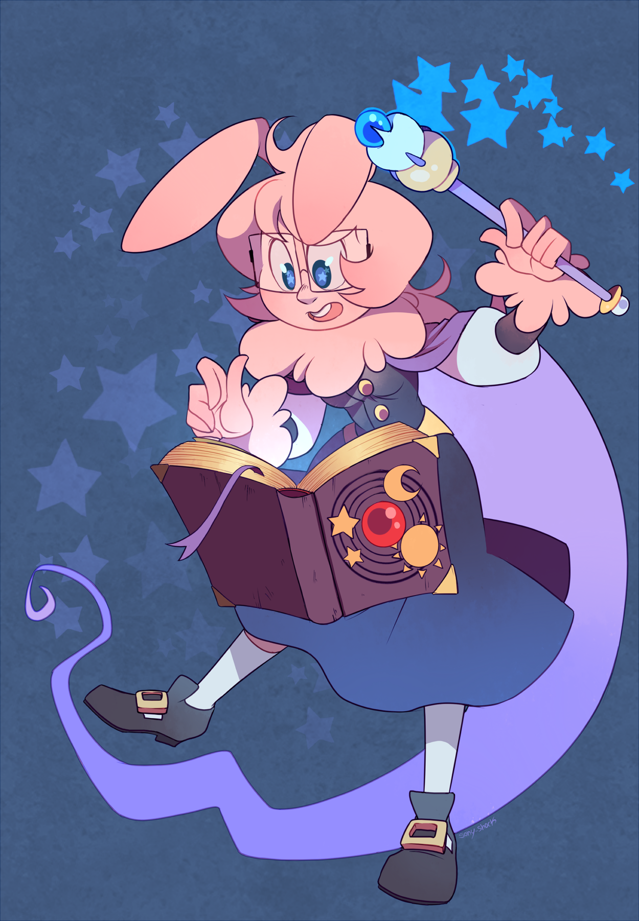 Mage bunny comm