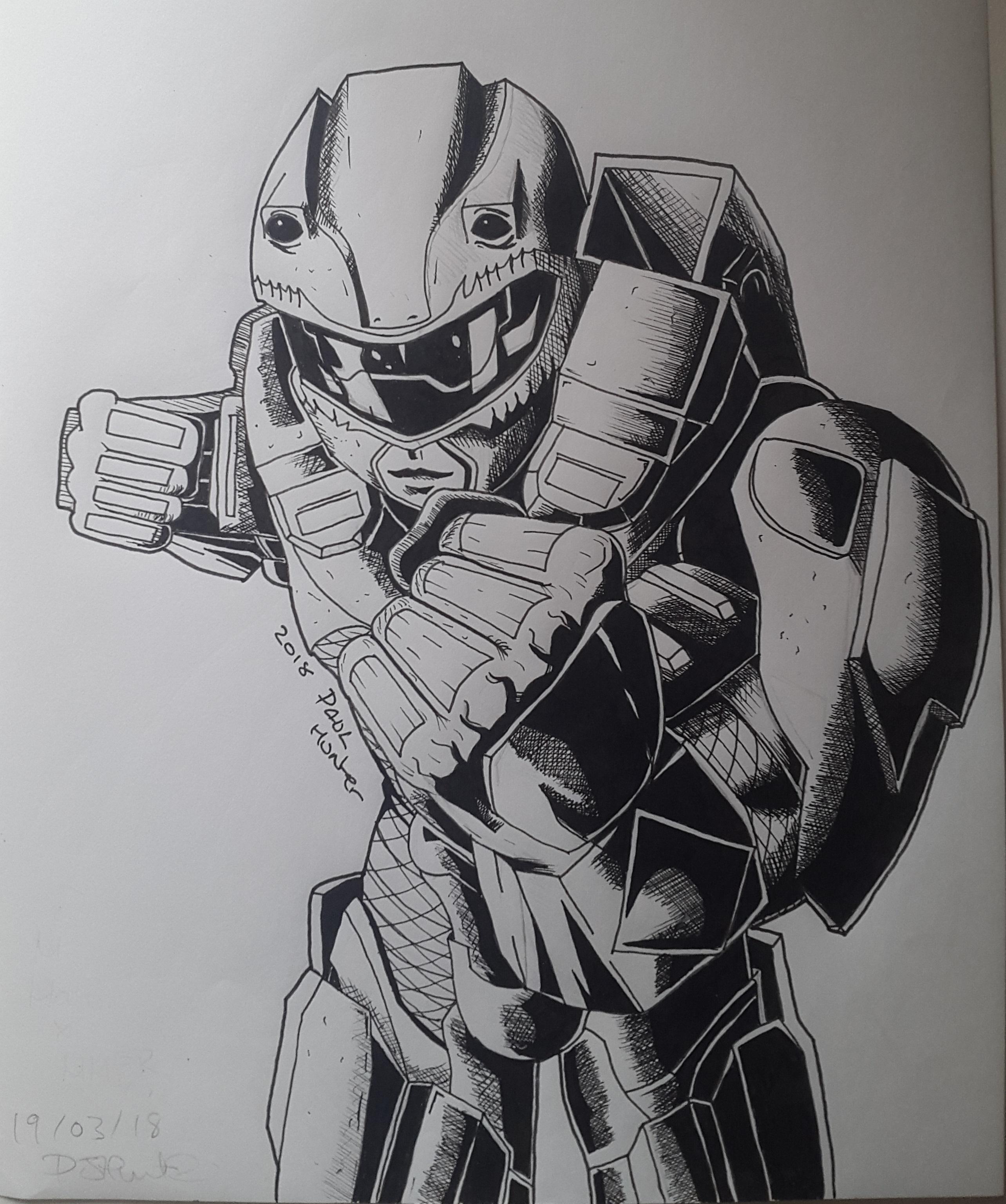 Halo x Power Rangers (Inked)