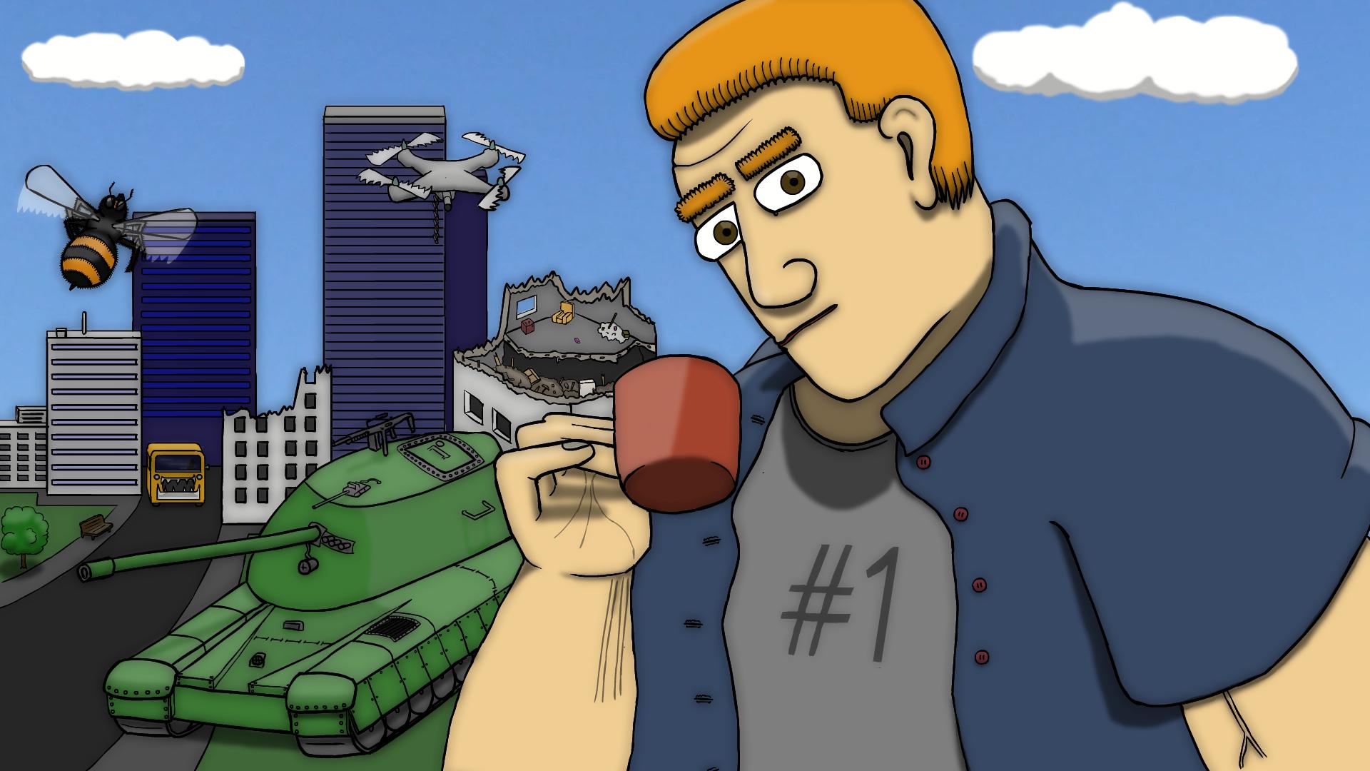 Epic Tea Guy and Bee