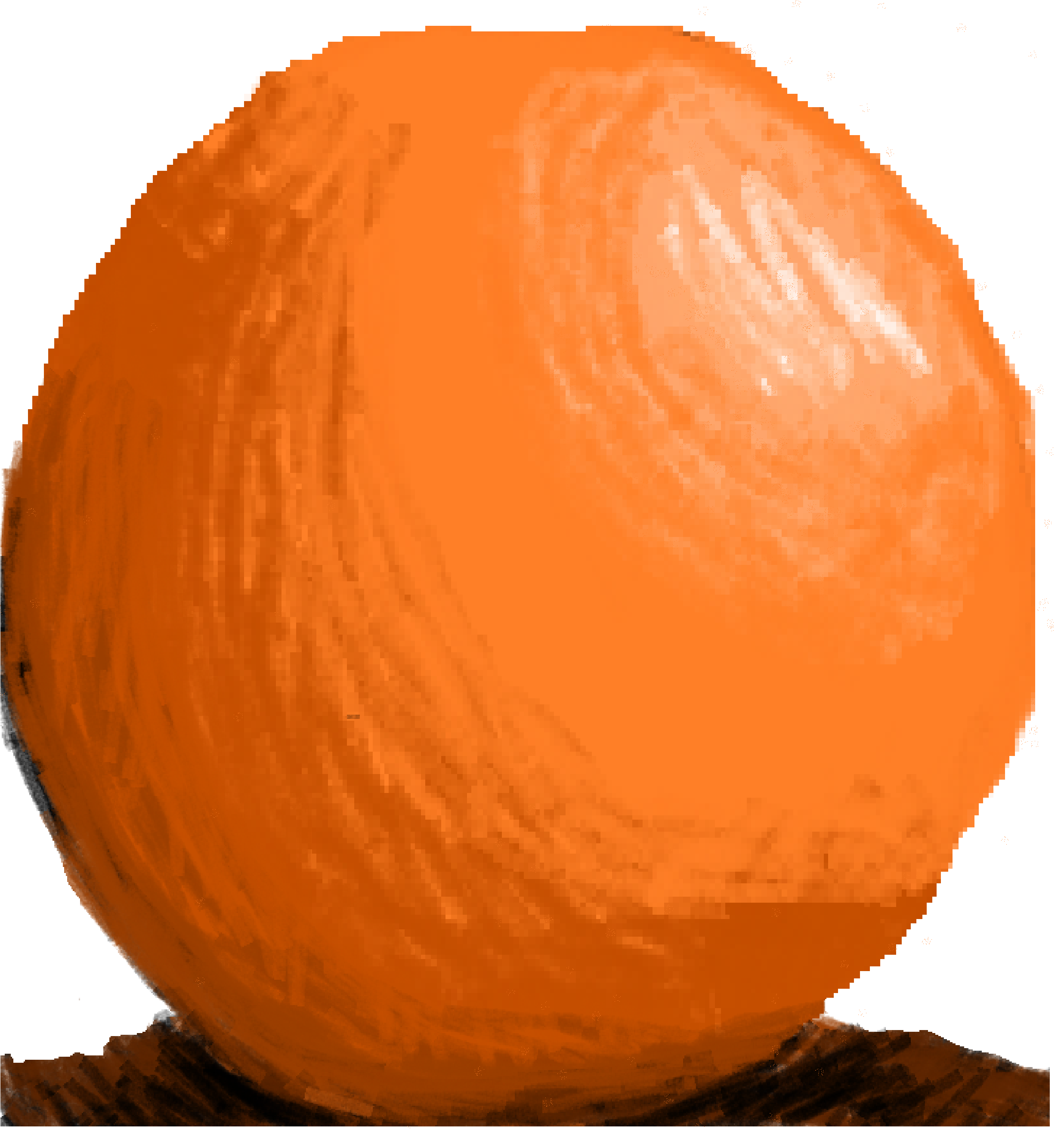 Realistic-ish orange ball