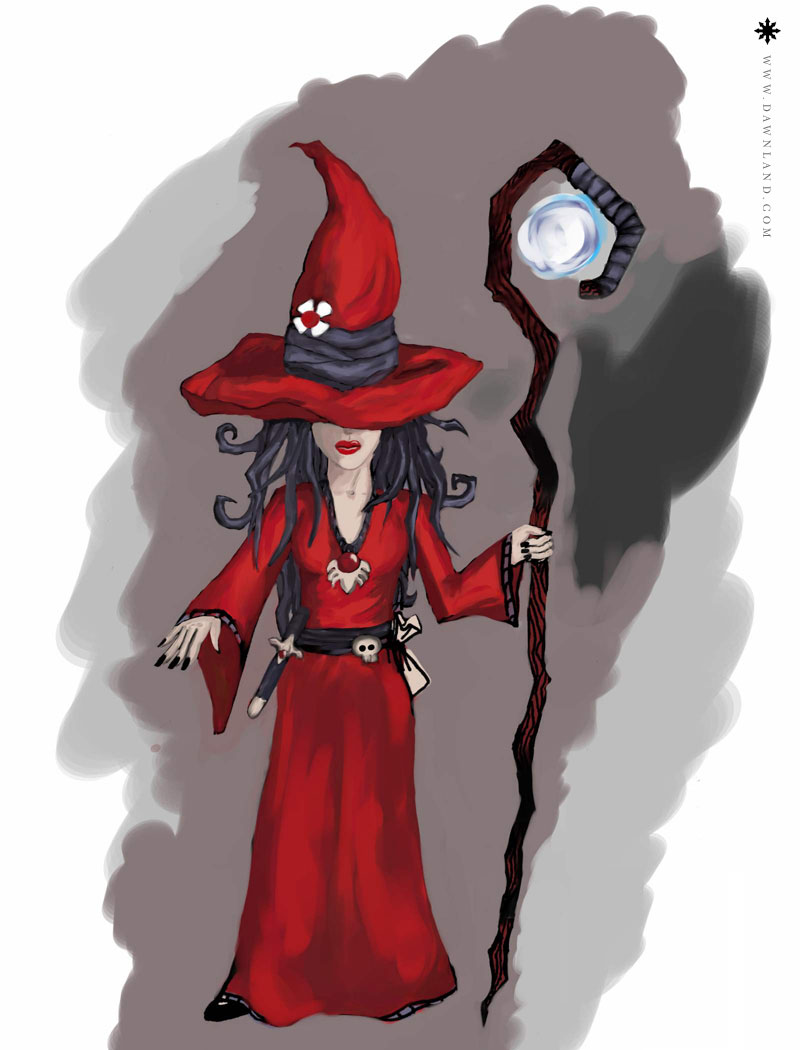 Wee (the witch) - painting