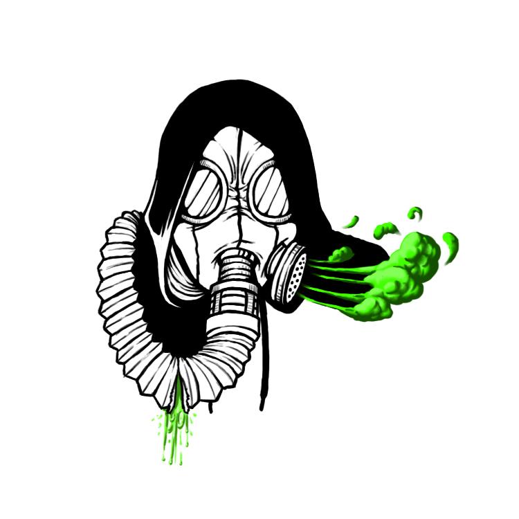 Graffiti Gas Mask Tattoo Designs